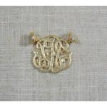 Casuals Fairhope Gold Monogram Magnet Enhancer