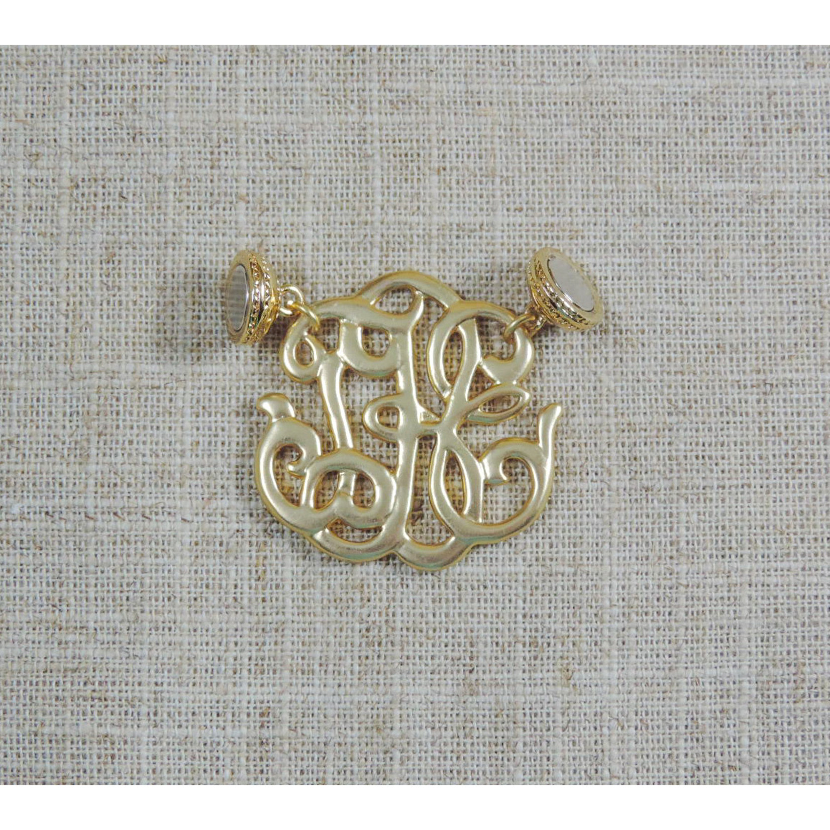 Casuals Fairhope Gold Monogram Magnet Enhancer