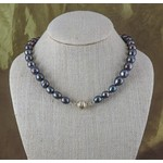 "Casuals Fairhope 16"" Peacock Pearl Necklace with Magnetic Clasp"