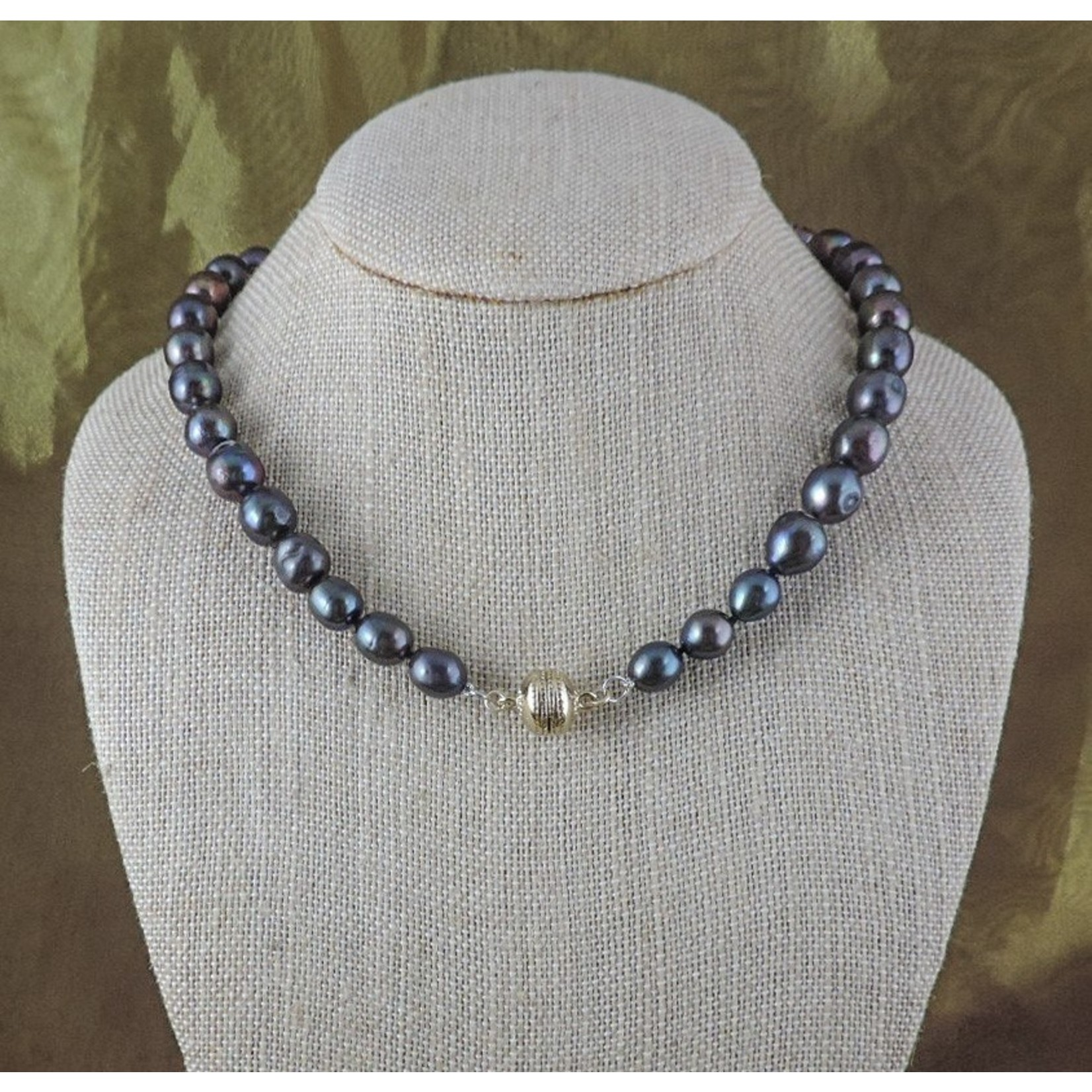 """Casuals Fairhope 16"""" Peacock Pearl Necklace with Magnetic Clasp"""
