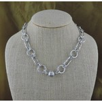 "Casuals Fairhope 16"" Silver Link Necklace with Magnetic Clasp"