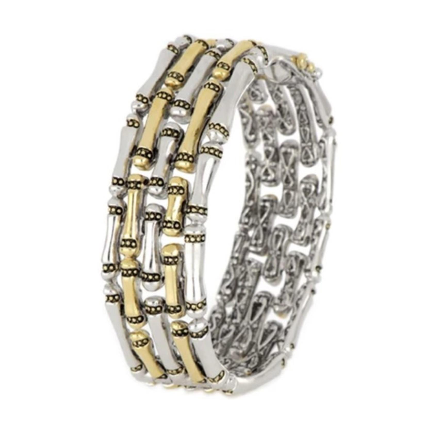 John Medeiros John Mederios Canias 5 Row Hinged Bracelet