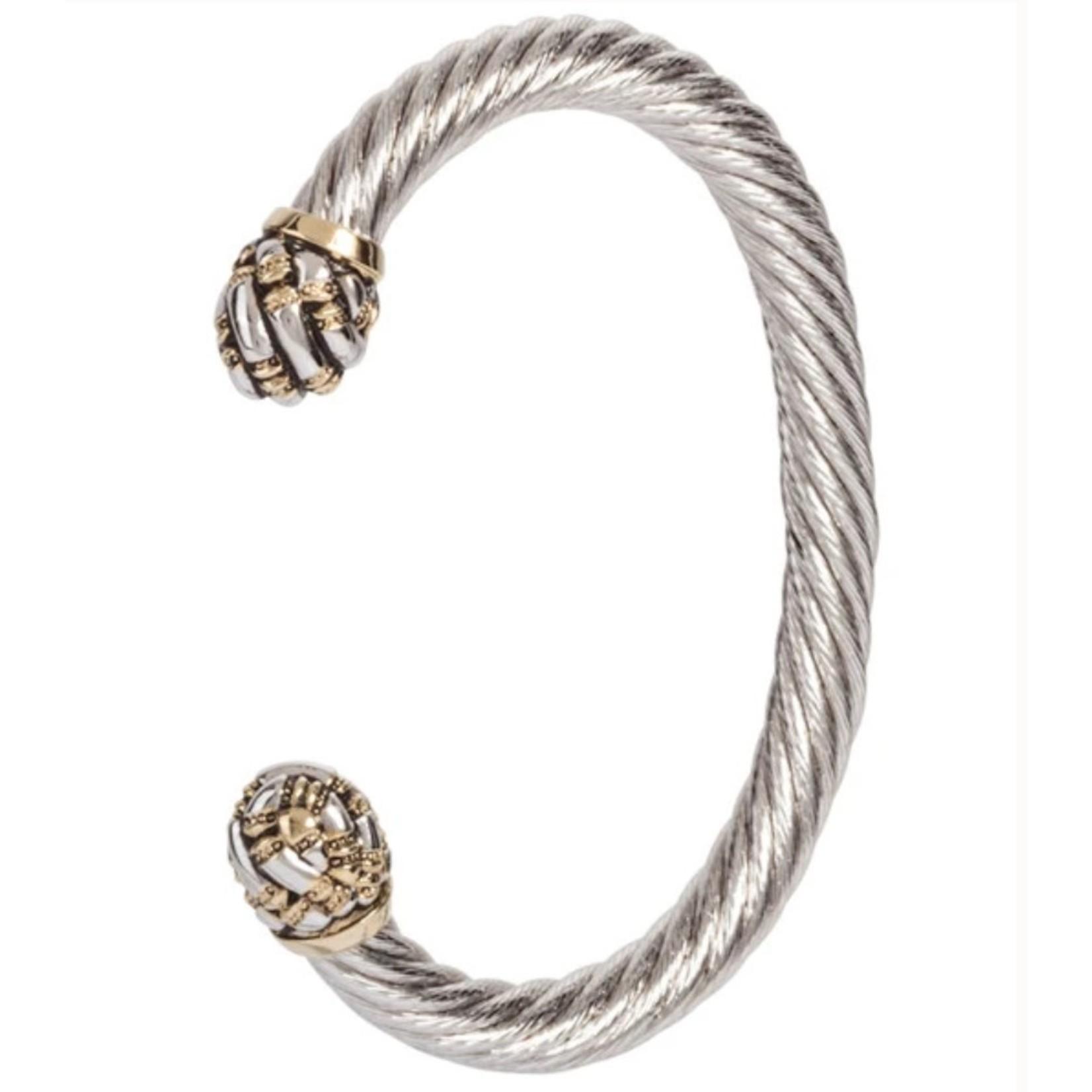 John Medeiros John Mederios Large Wire Cuff Bracelet