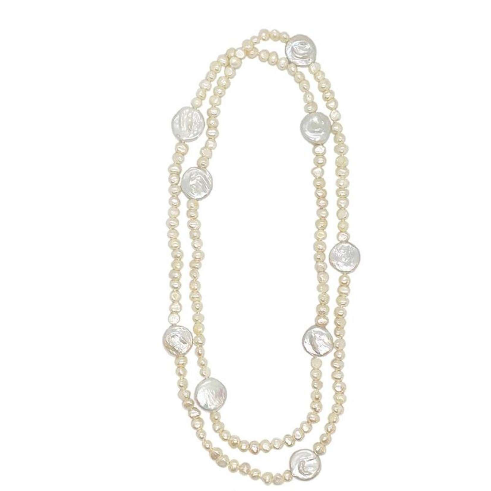 Girl With a Pearl Long Necklace