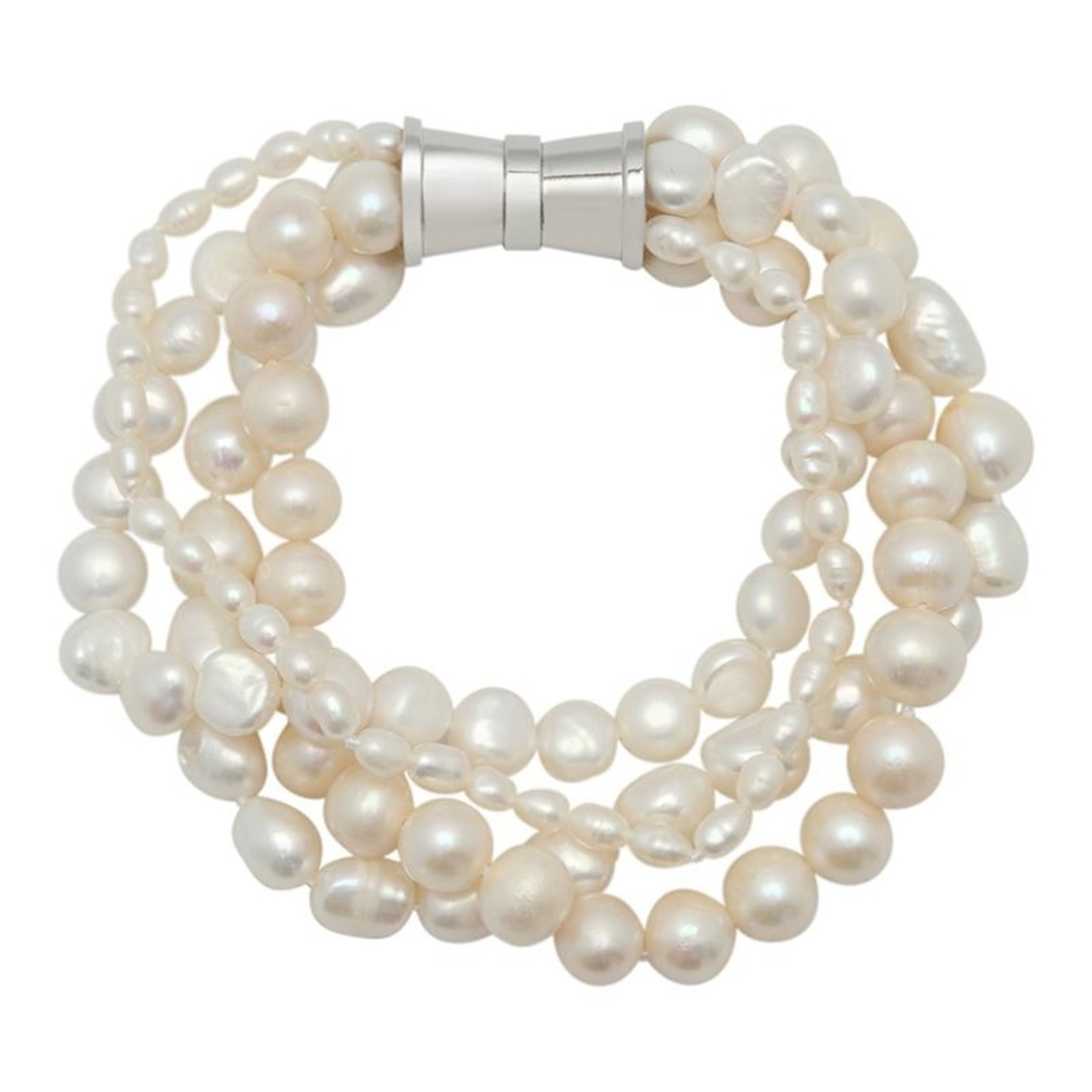 Girl With a Pearl 4 Strand Bracelet