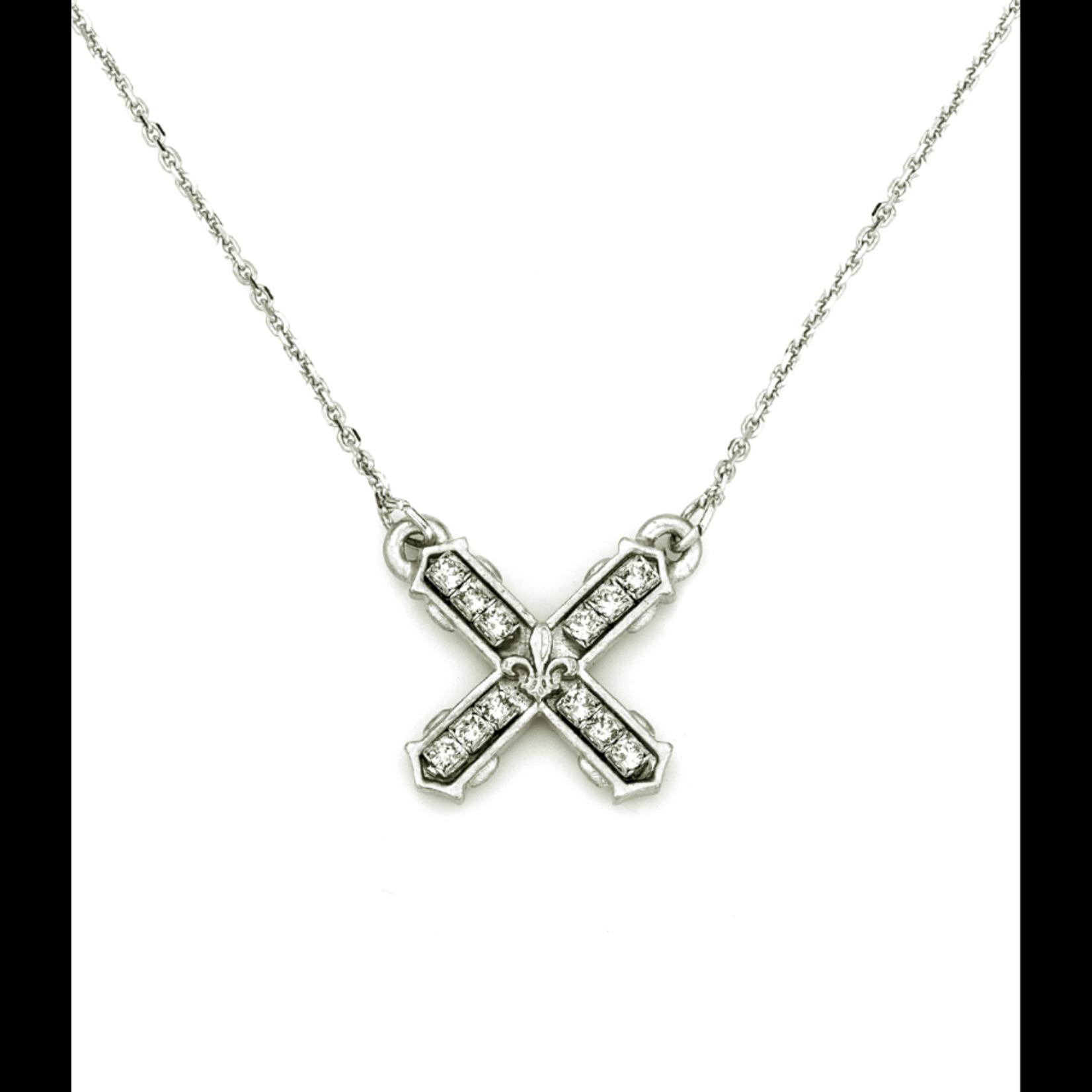 French Kande Petite Swarovski French Kiss Necklace - Silver