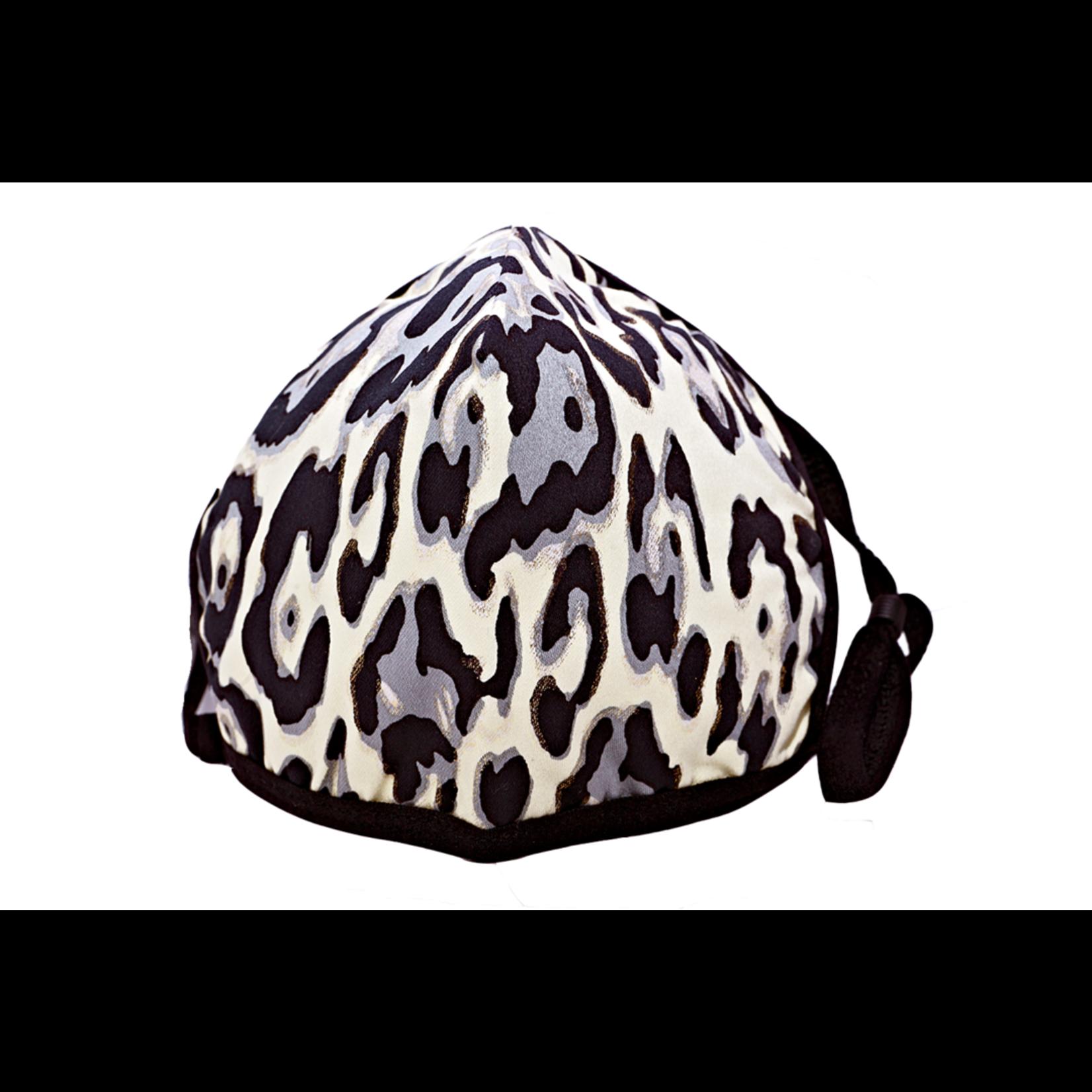 Berek Black and Silver Leopard Foil Mask