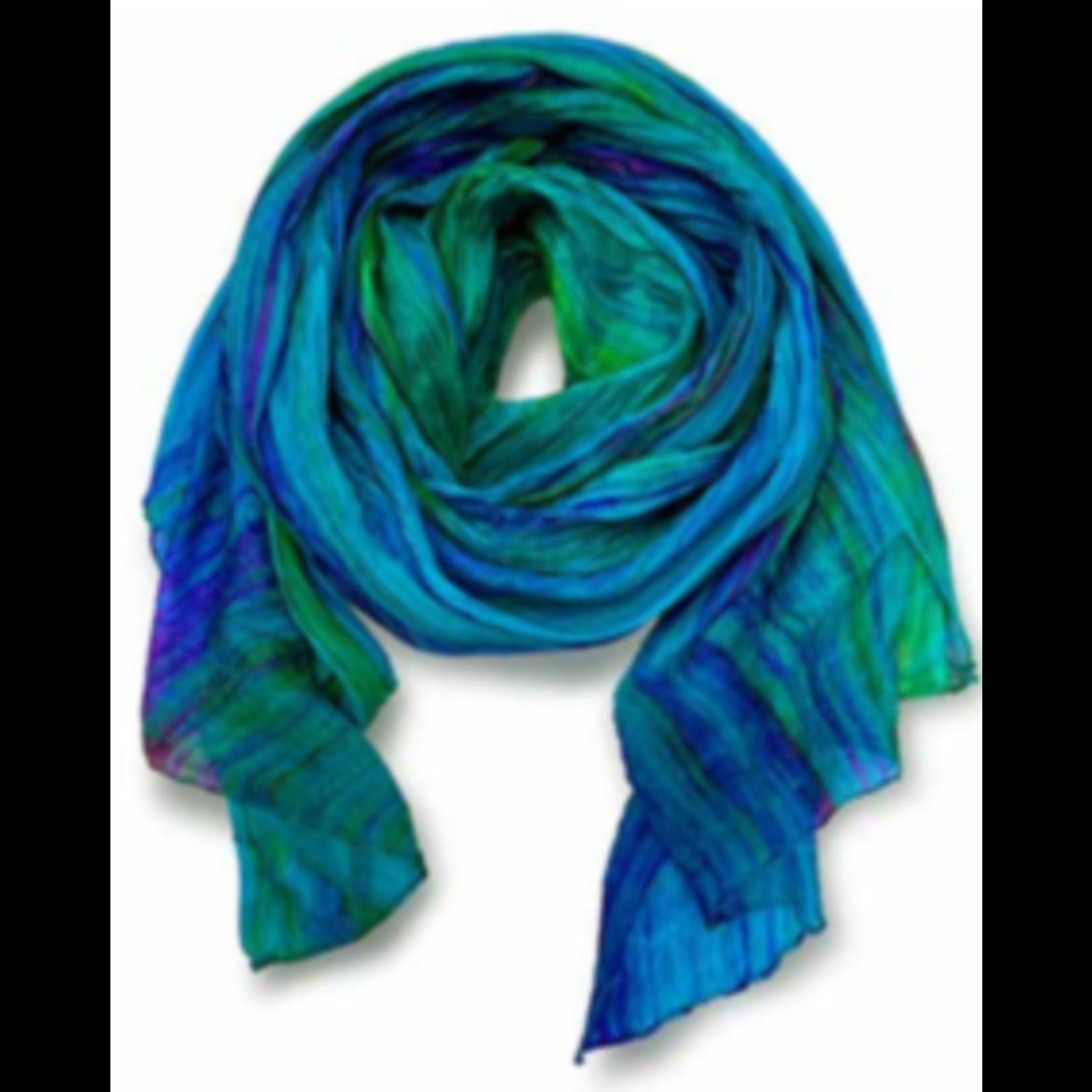 Casuals Fairhope Watercolor Silk Scarf blue/purple