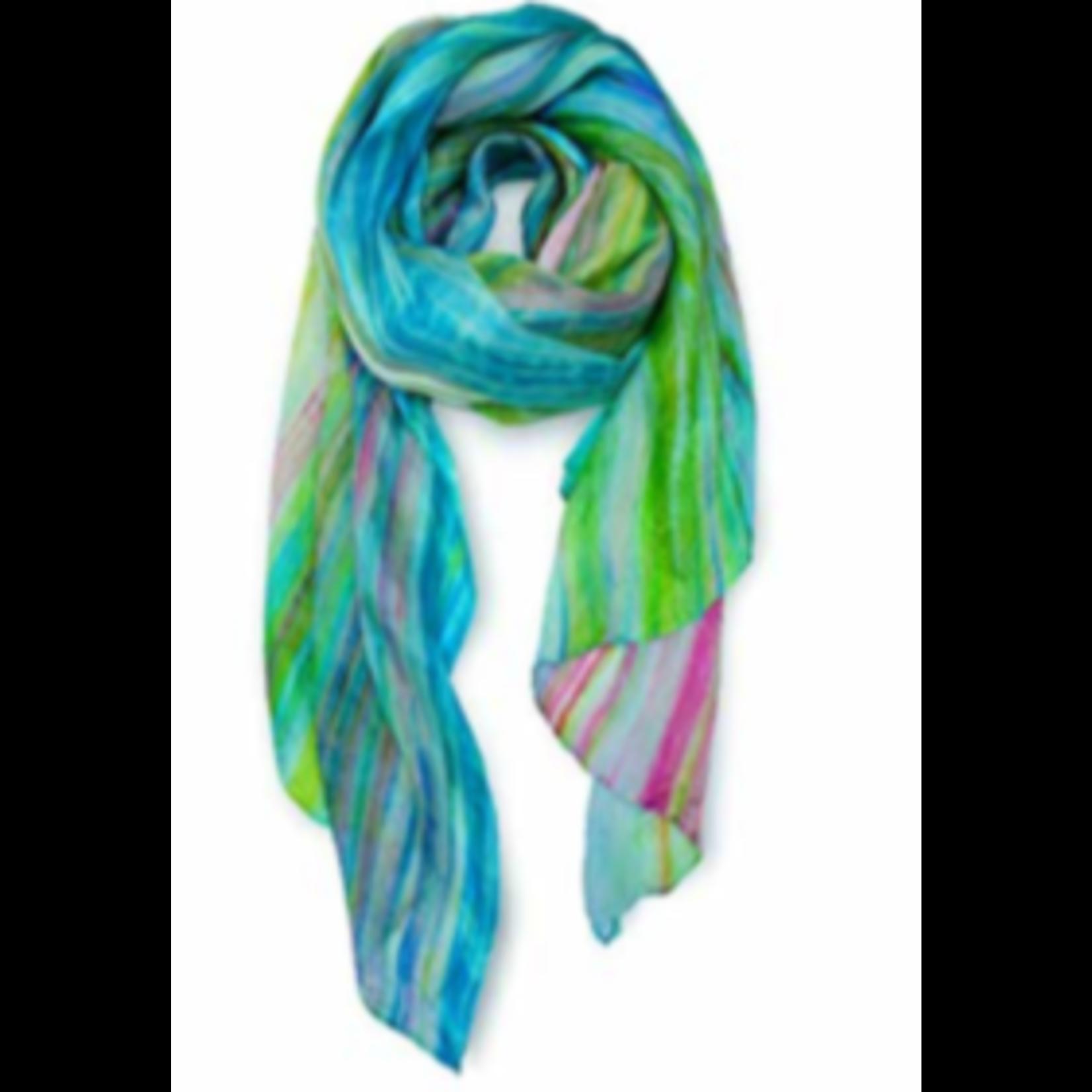 Casuals Fairhope Watercolor silk scarf wild floral