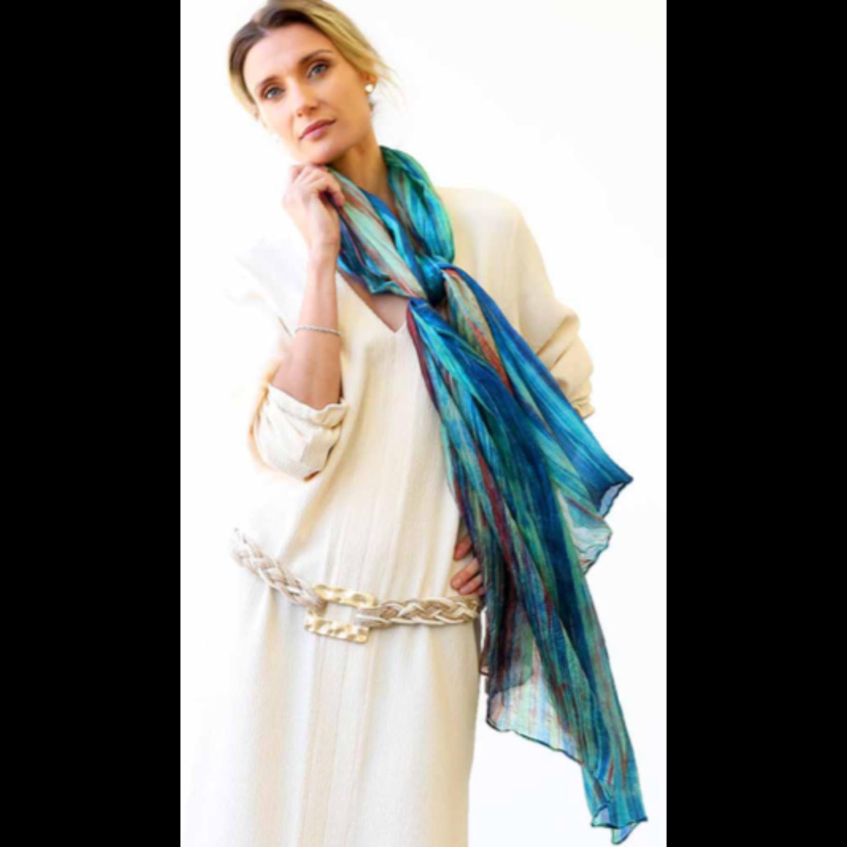 Casuals Fairhope Watercolor silk scarf prism