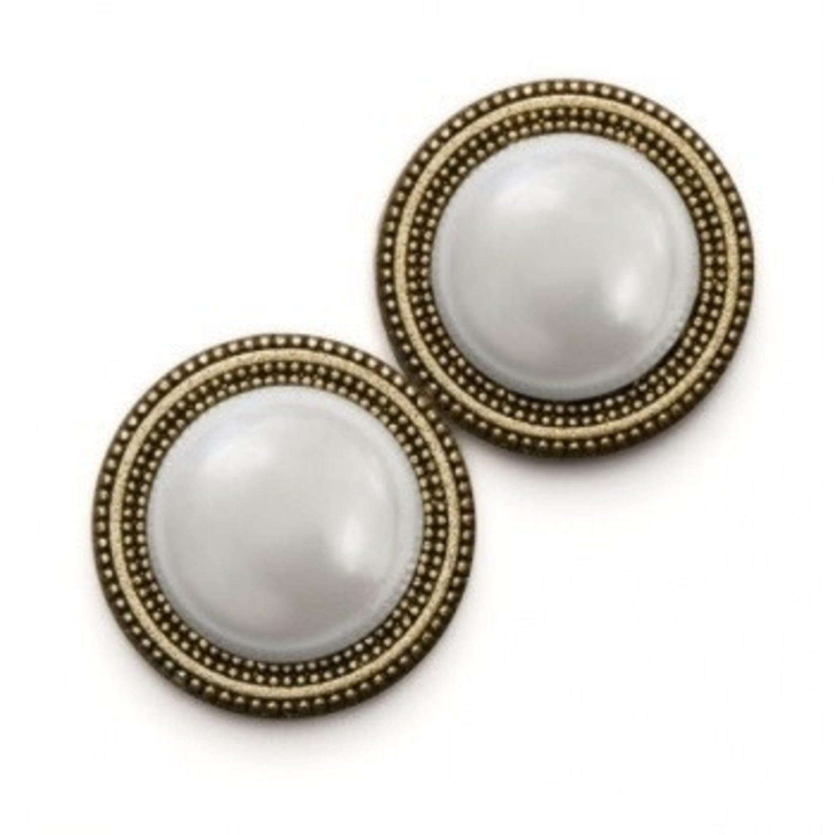 Magnebutton Gold/White Pearl Closure