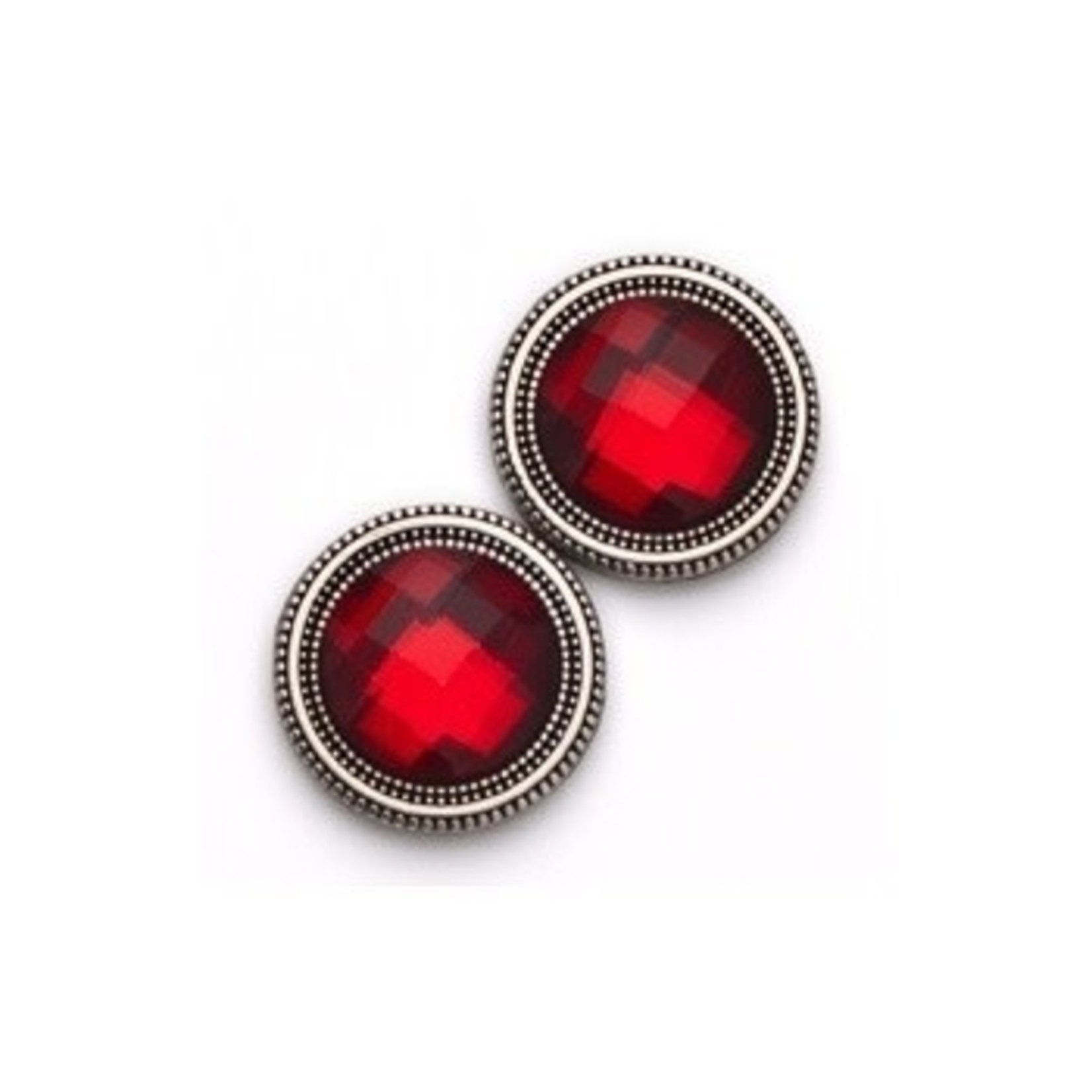 Magnebutton Red Crystal Closure
