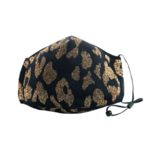 Berek Black and Gold Leopard Foil Mask
