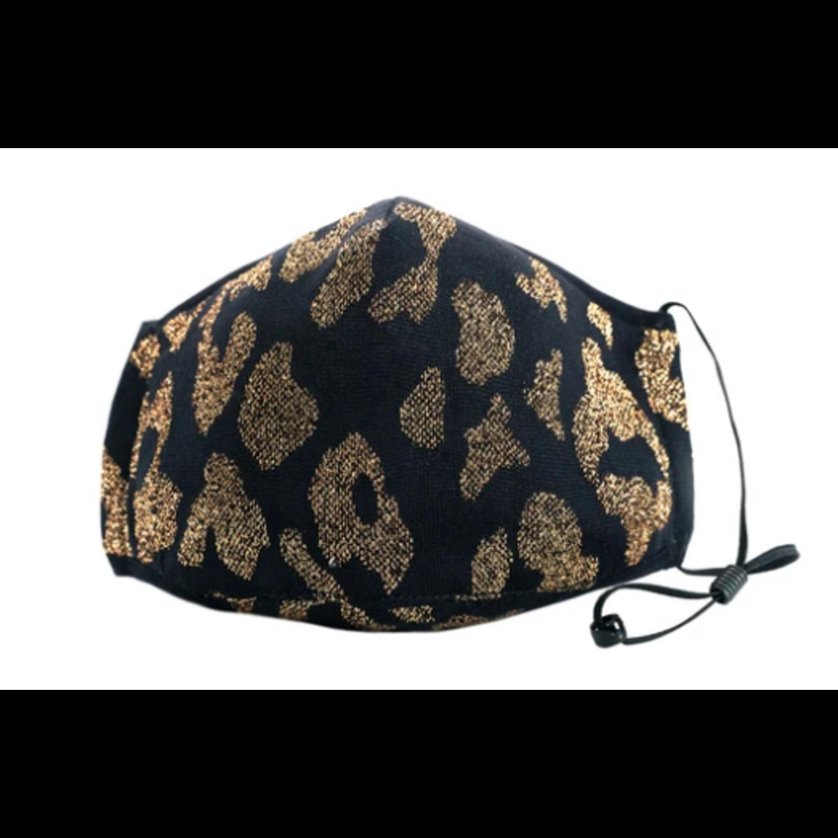 Berek Black and Gold Leopard Foil Mask