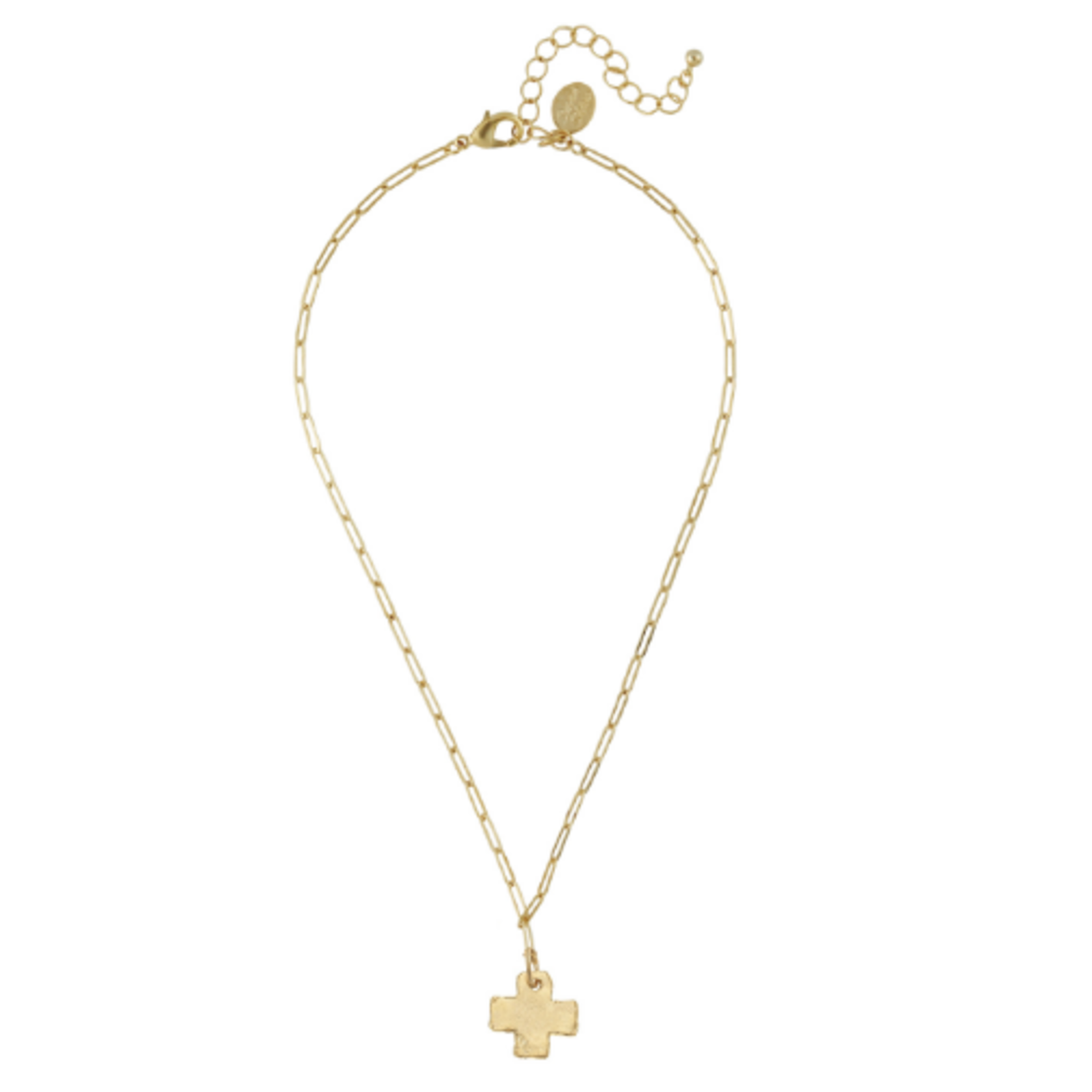 Susan Shaw Susan Shaw Mini Cross Paperclip Necklace