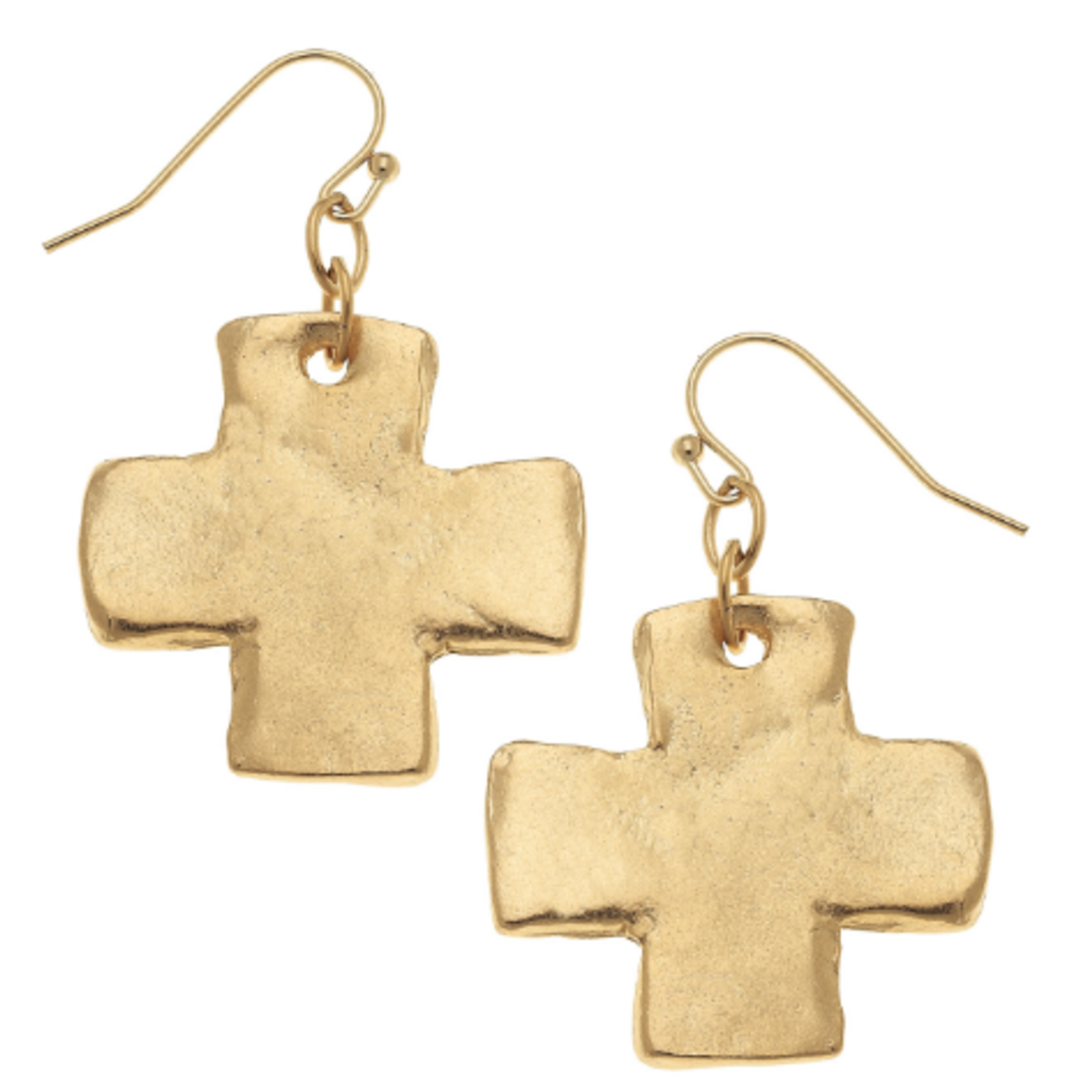Susan Shaw Susan Shaw Gold Cross Earrings