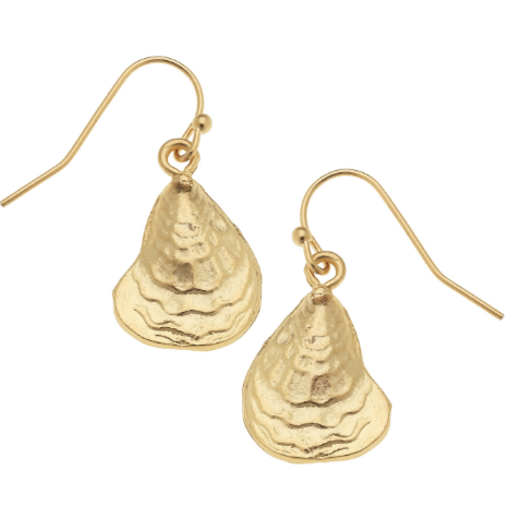Susan Shaw Susan Shaw Gold Oyster Earrings