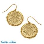 Susan Shaw Susan Shaw Gold Bee Earrings