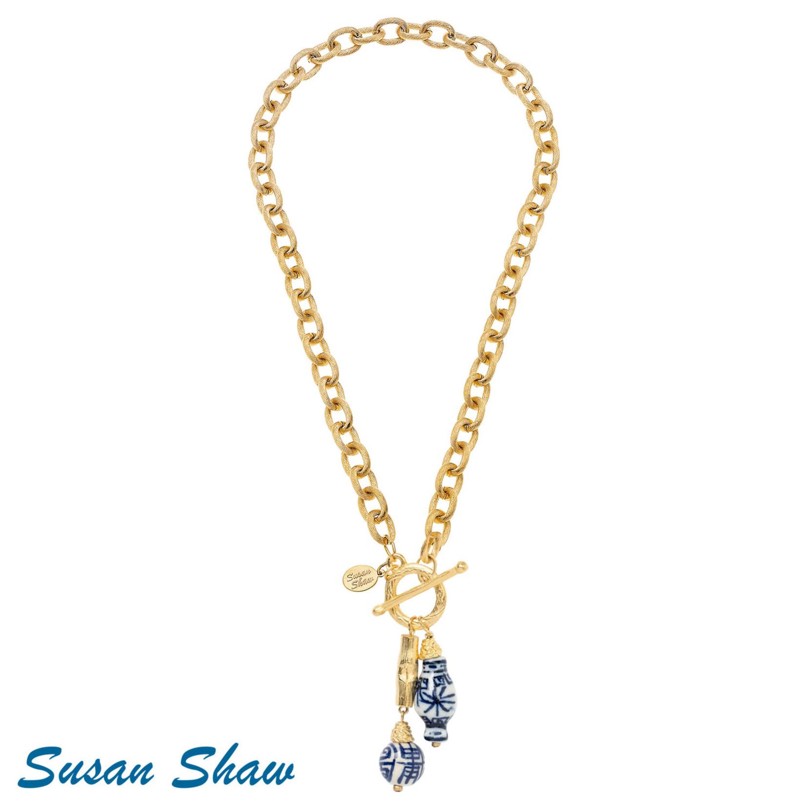 Susan Shaw Susan Shaw Toggle Drop Necklace