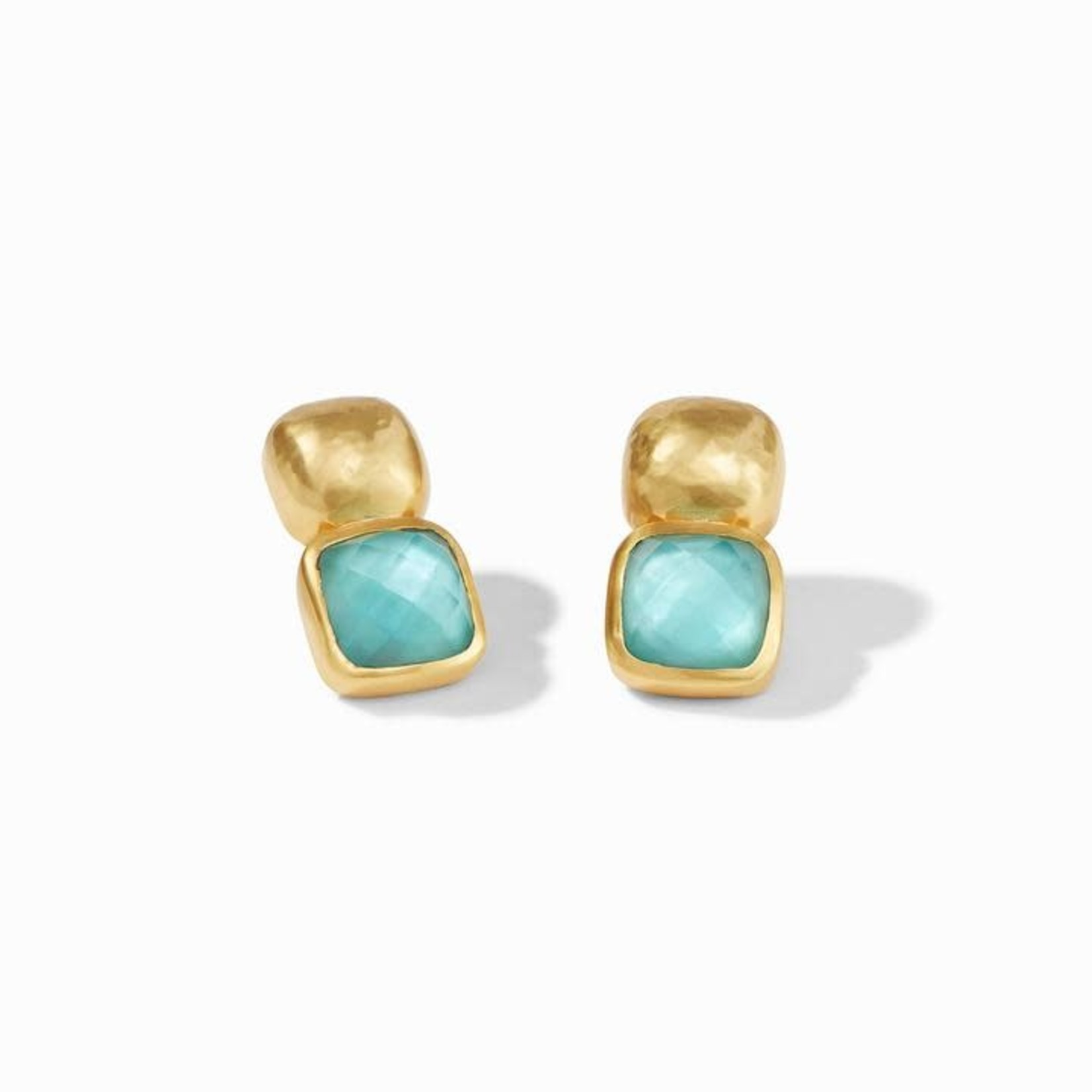 Julie Vos Catalina Earring - Iridescent Bahamian Blue