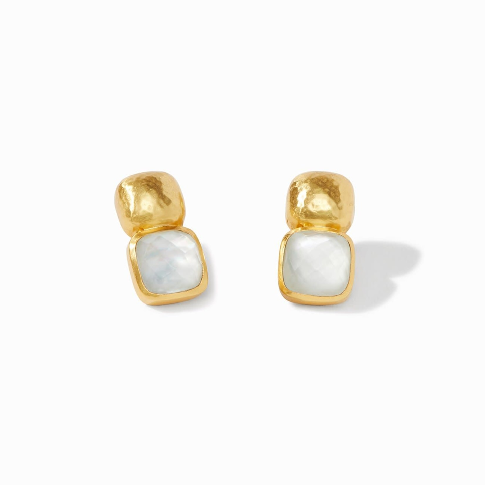 Julie Vos Catalina Earring - Iridescent Clear Crystal