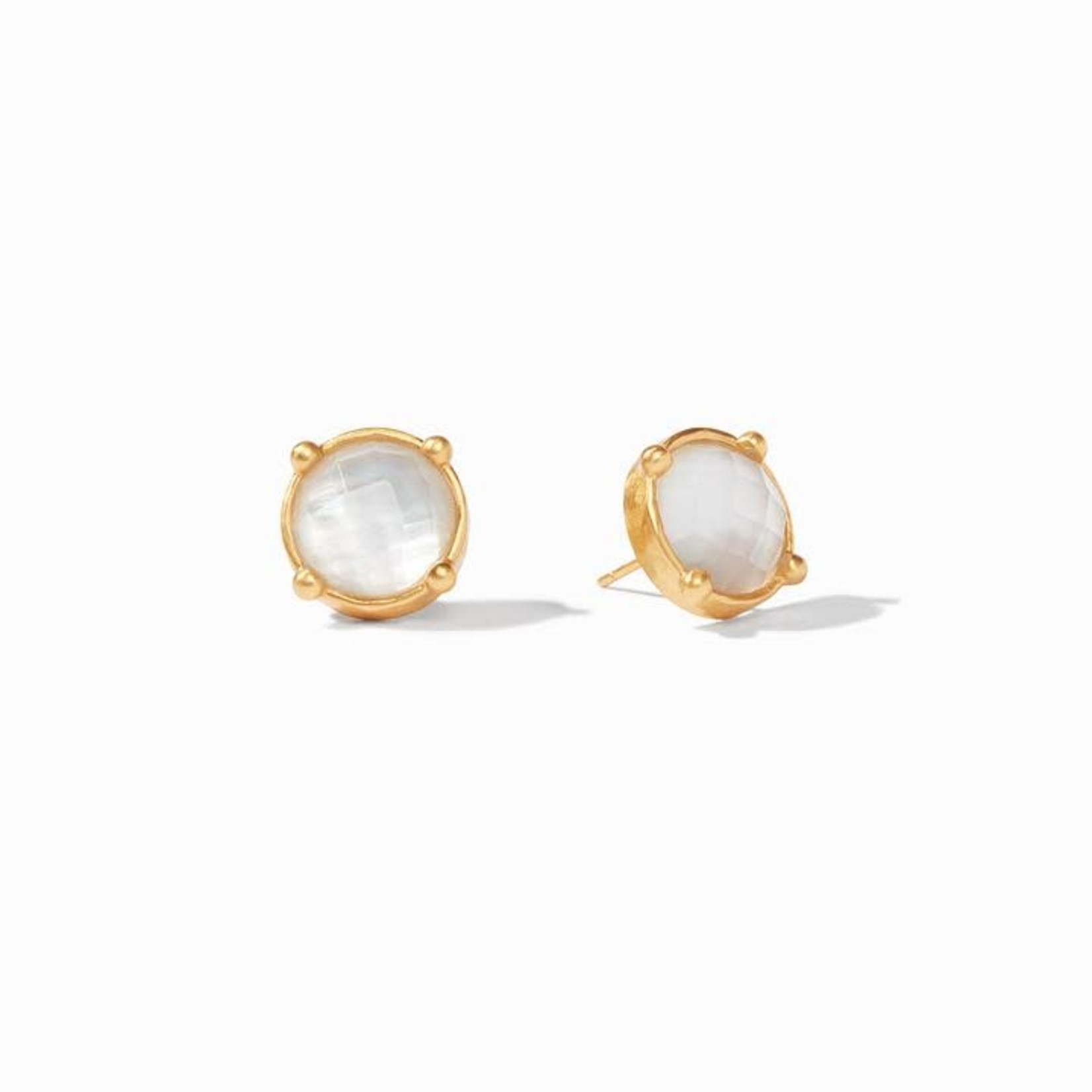 Julie Vos Honey Stud - Iridescent Clear Crystal