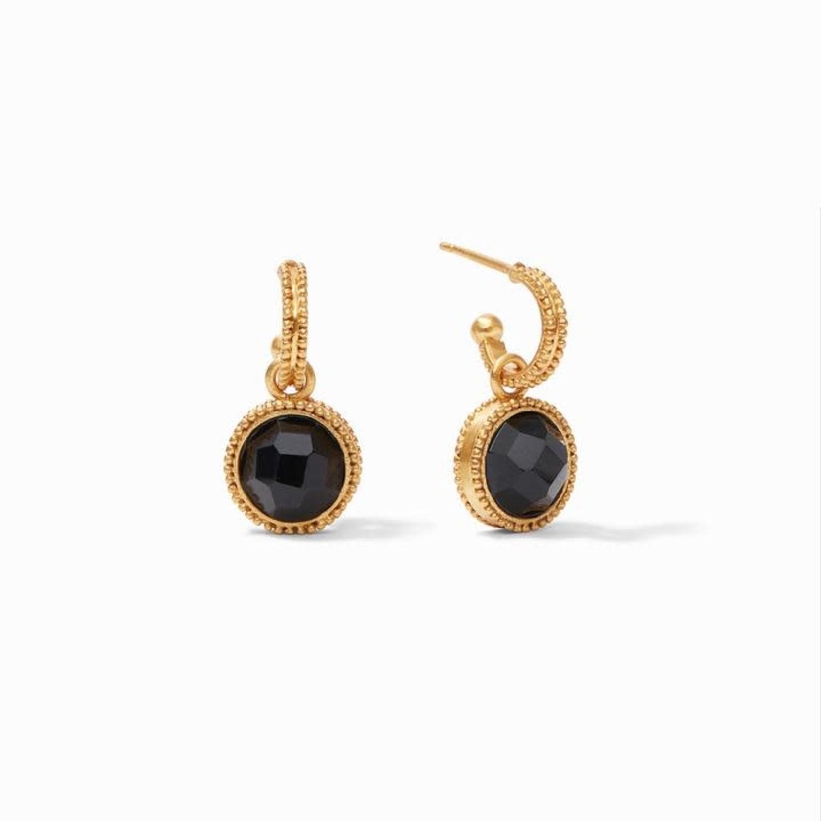 Julie Vos Fleur-de-Lis Hoop & Charm Reversible Earring