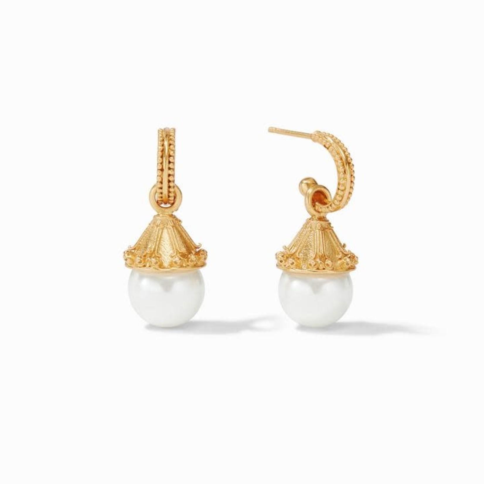 Julie Vos Meridian Pearl Hoop & Charm Earring
