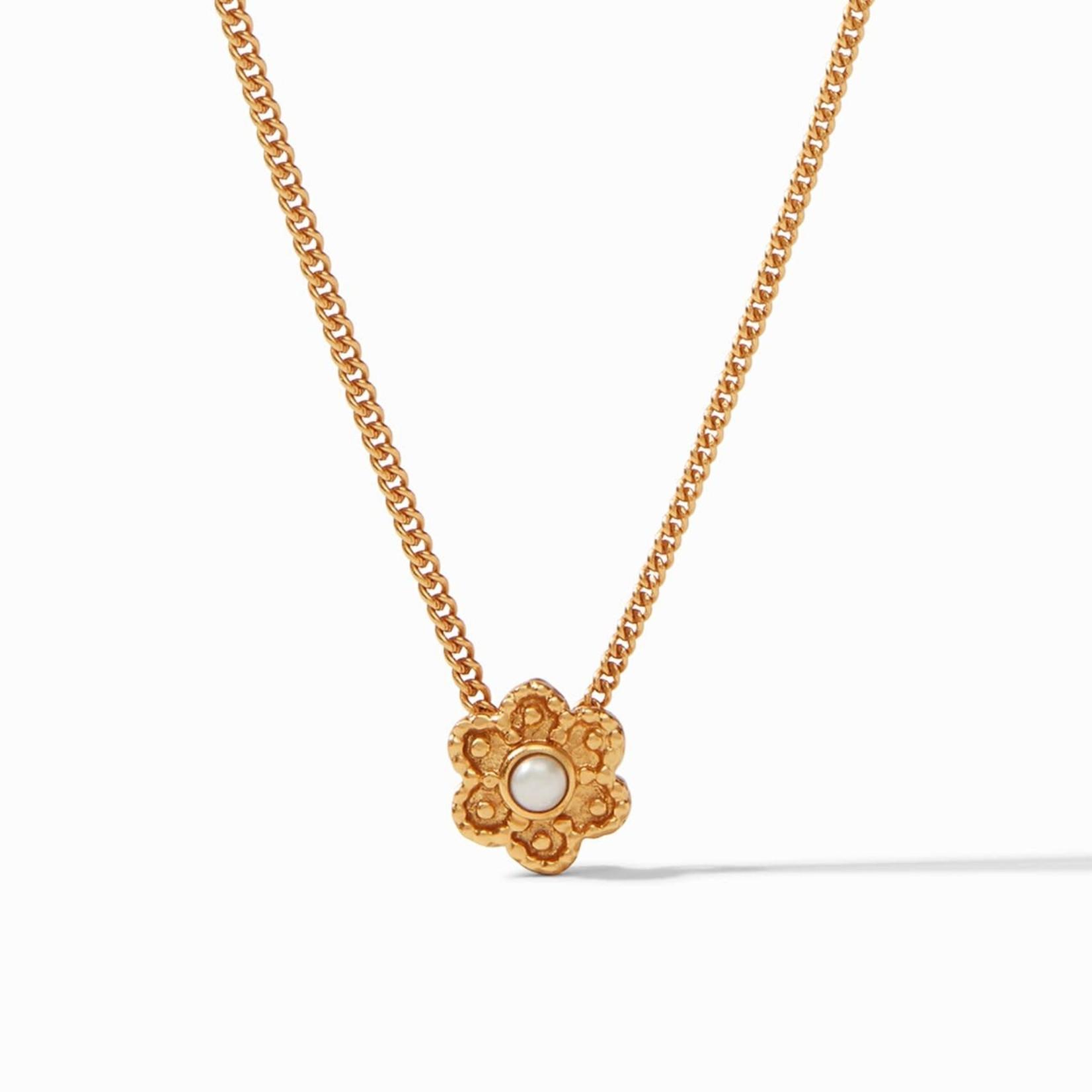 Julie Vos Colette Delicate Flower Necklace - Pearl