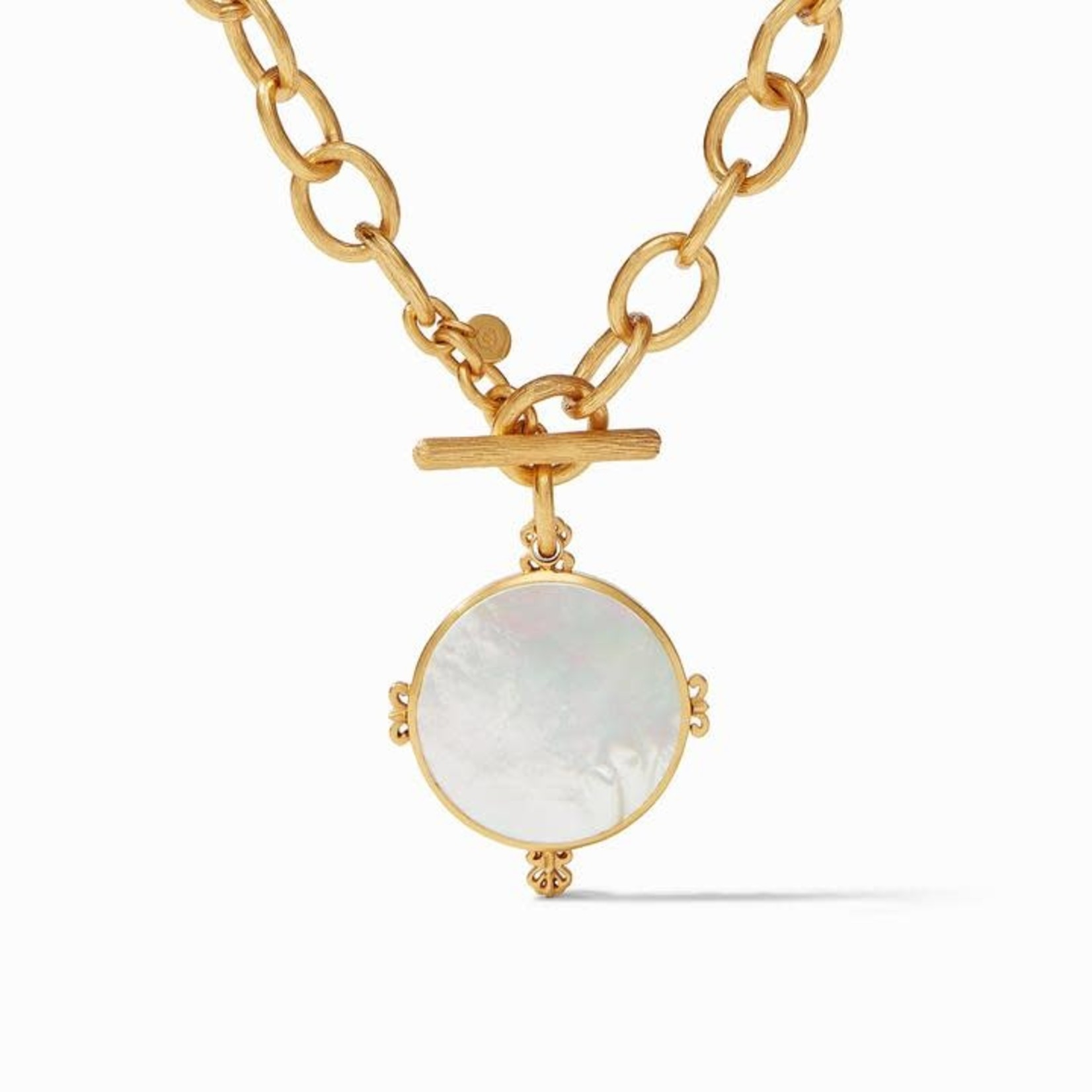 Julie Vos Meridian Reversible Statement Necklace - Mother of Pearl