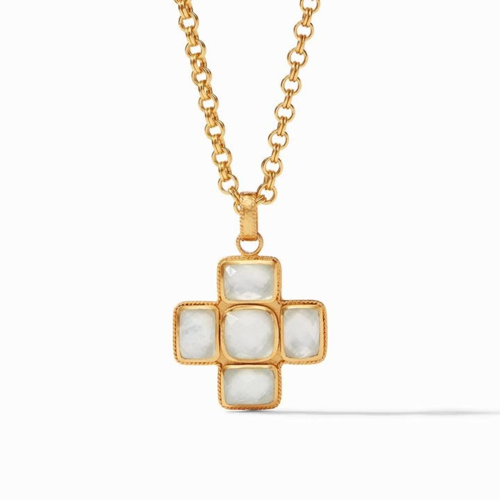 Julie Vos Savoy Pendant - Iridescent Clear Crystal