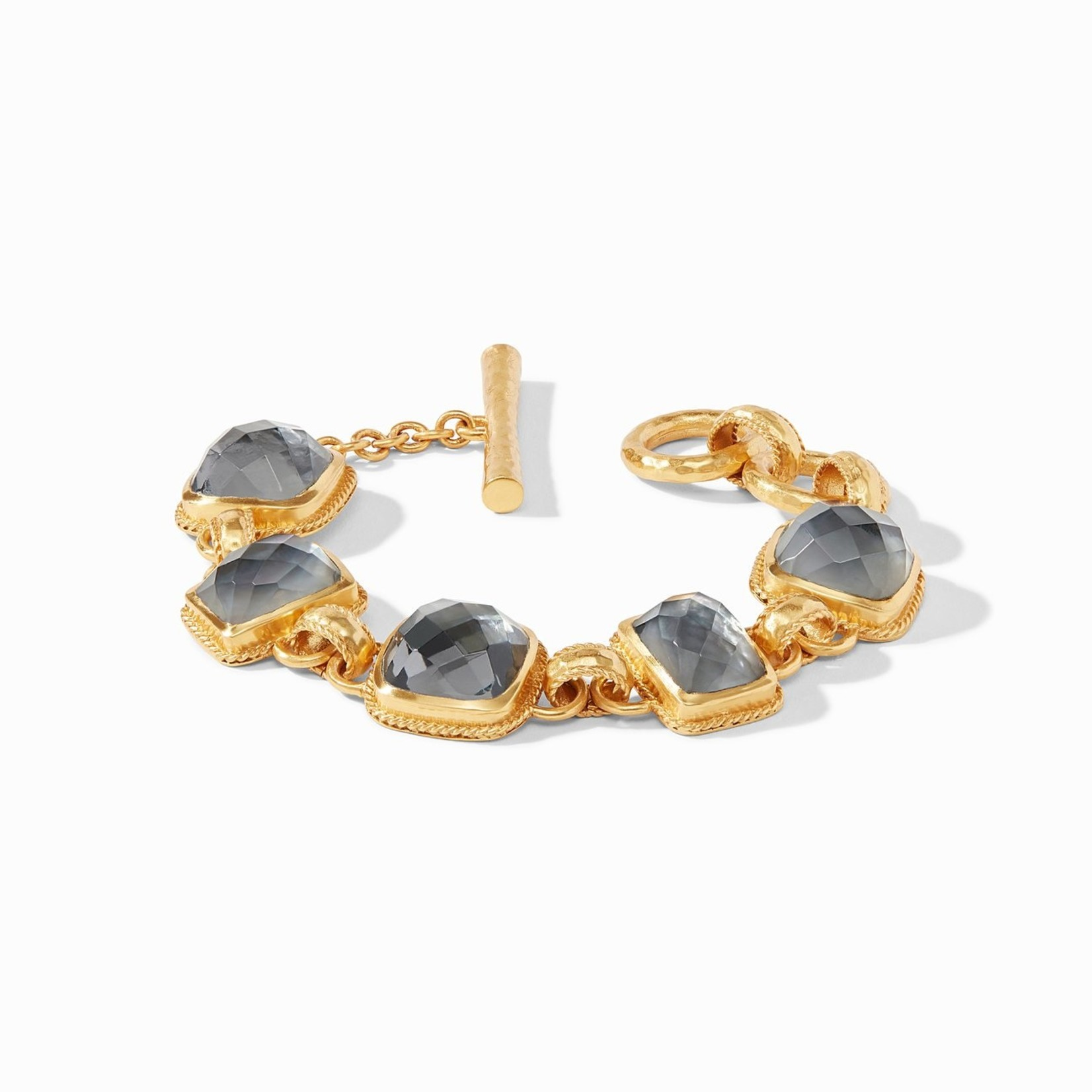 Julie Vos Savoy Demi Bracelet - Iridescent Charcoal Blue