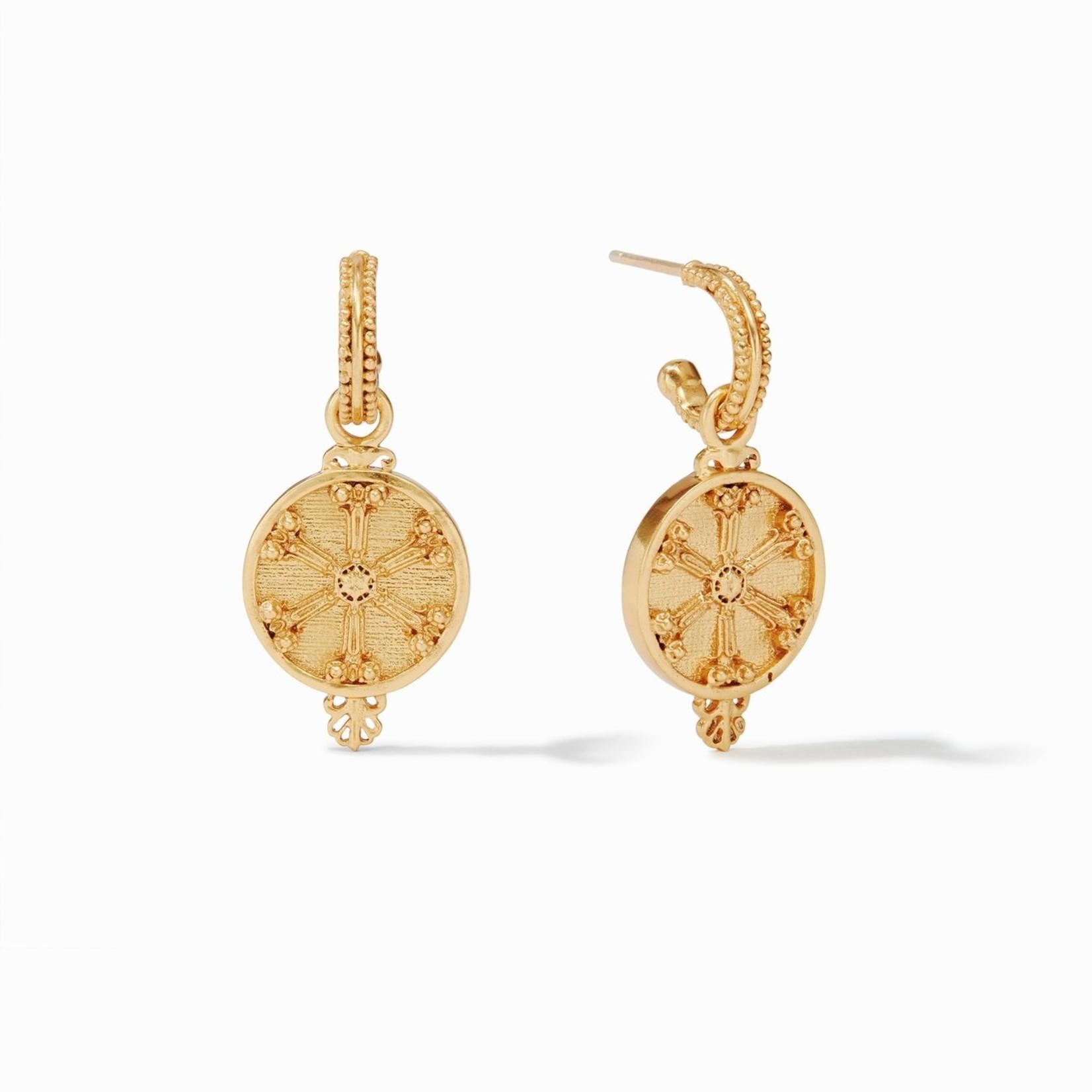 Julie Vos Meridian (Compass) Hoop & Charm Earring