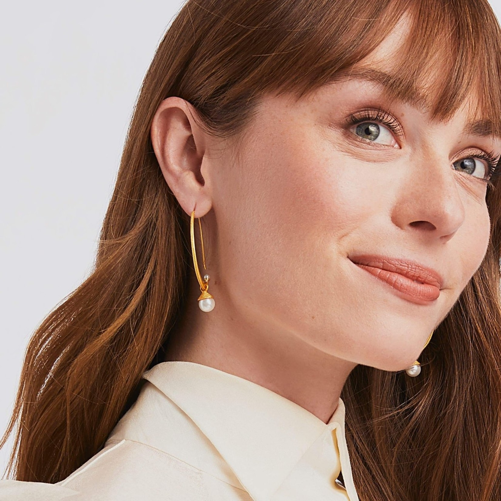 Julie Vos Windsor Pearl Statement Earring