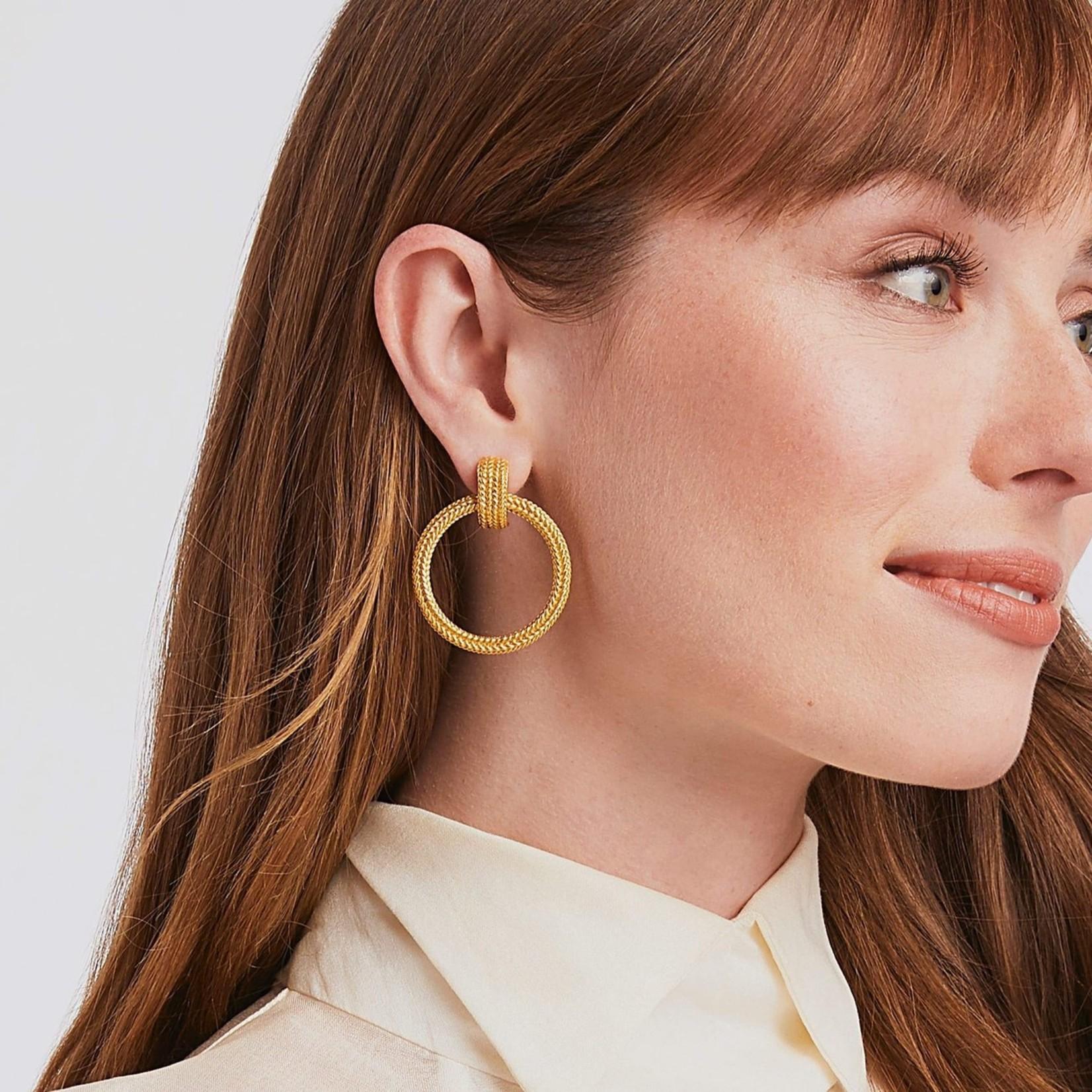 Julie Vos Windsor Doorknocker Earring - Clip