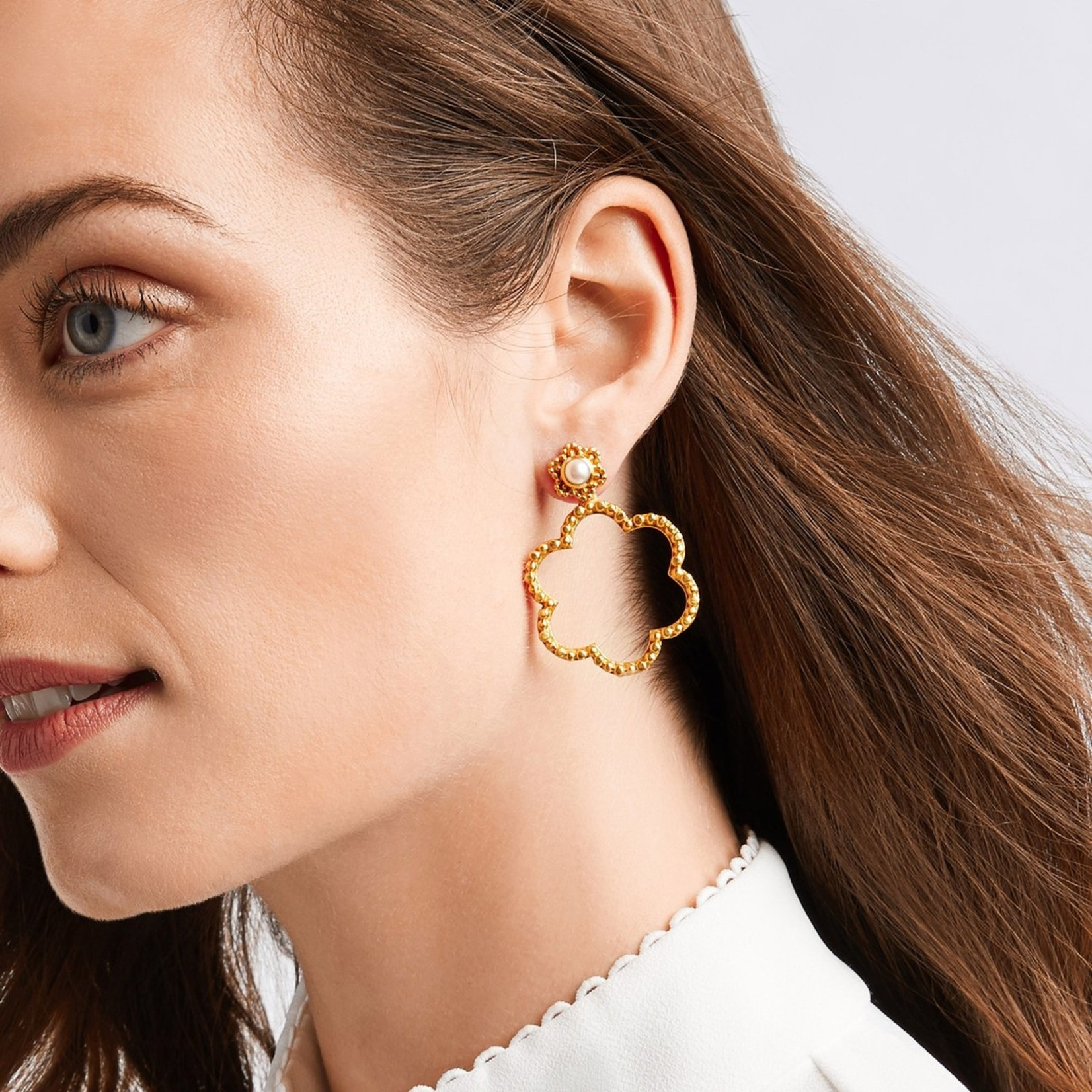 Julie Vos Colette Statement Earring - Pearl