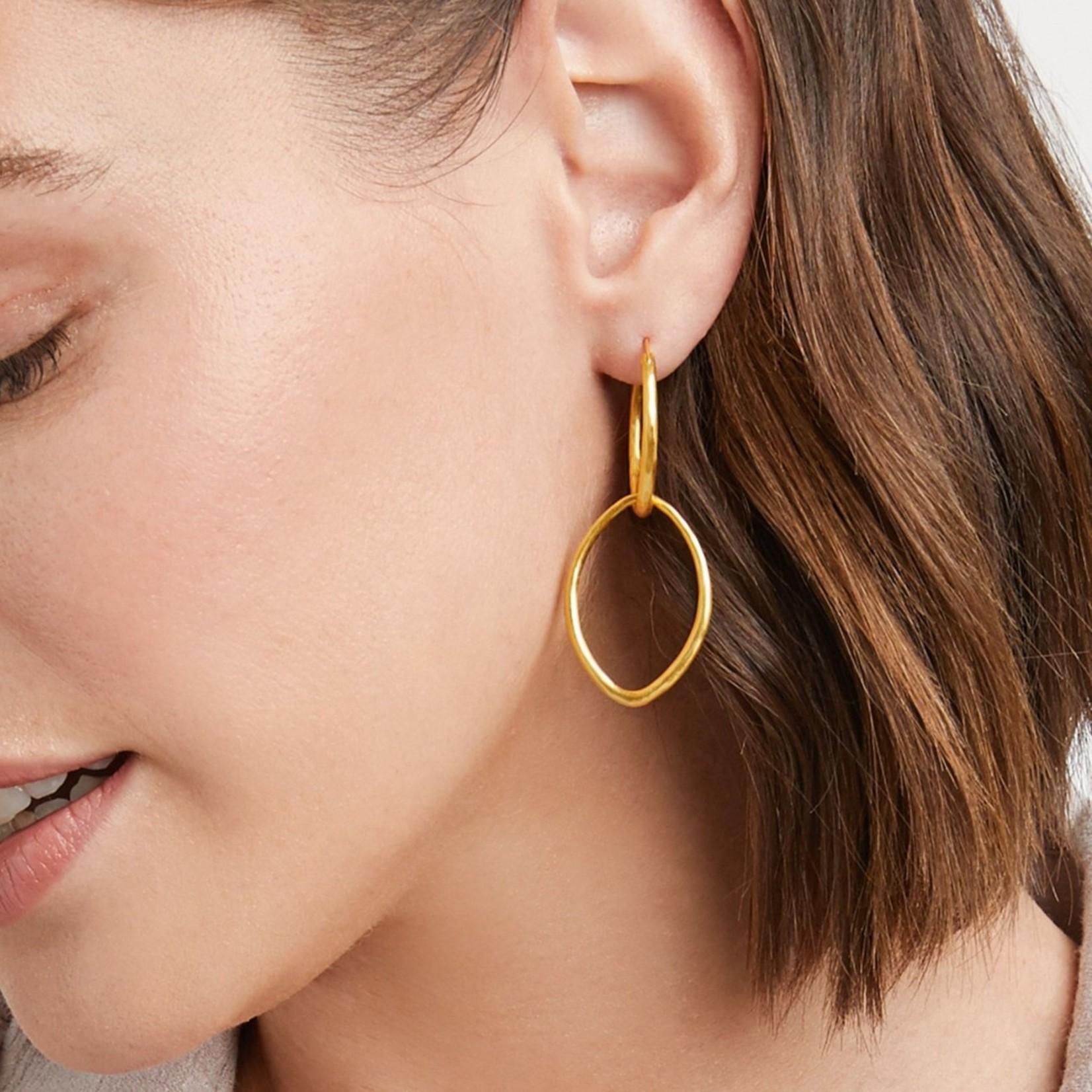 Julie Vos Fleur-de-Lis 2 in 1 Earring