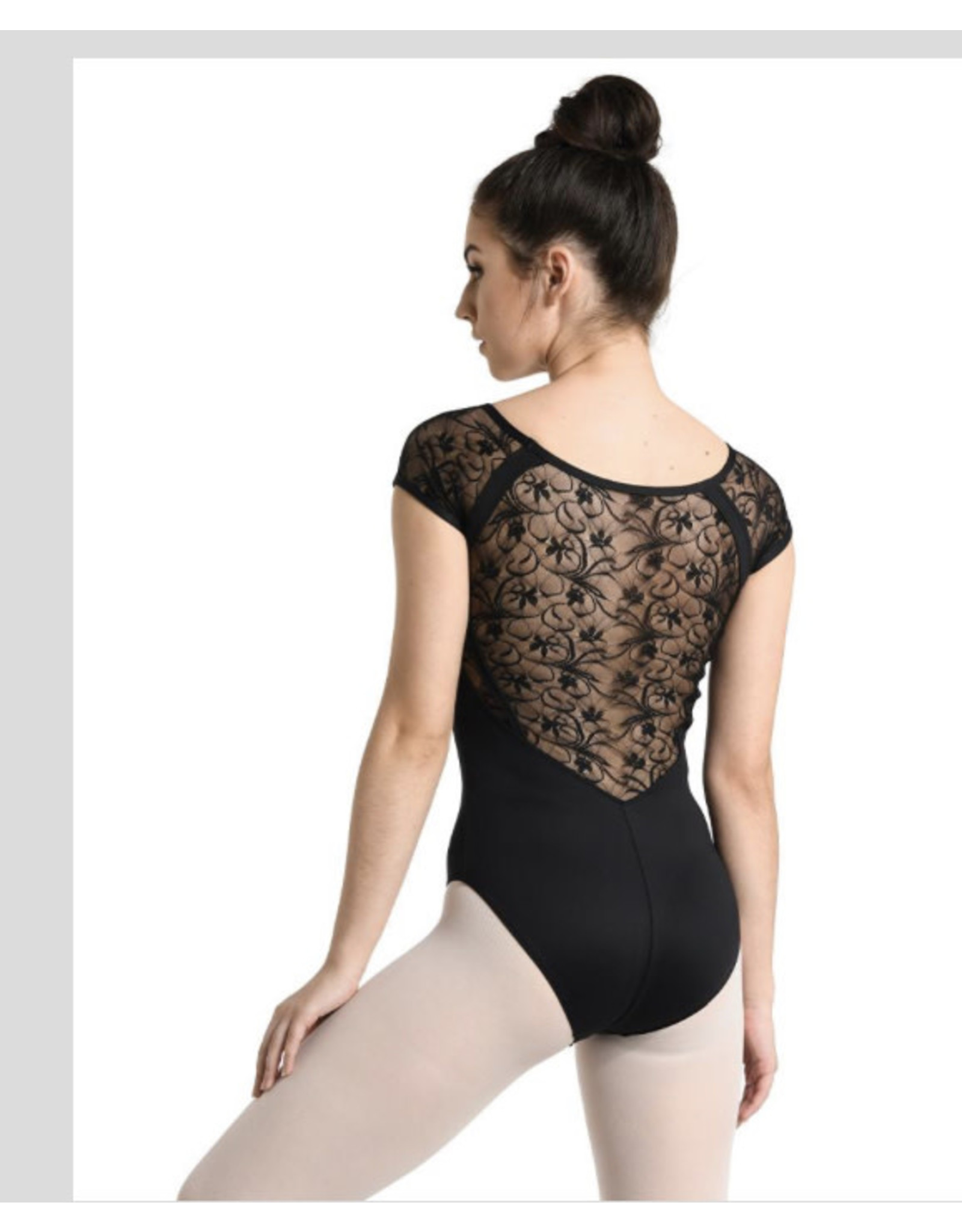 Danshuz Danznmotion Adult D- CAP SLV V-NECK LACE LEOTARD