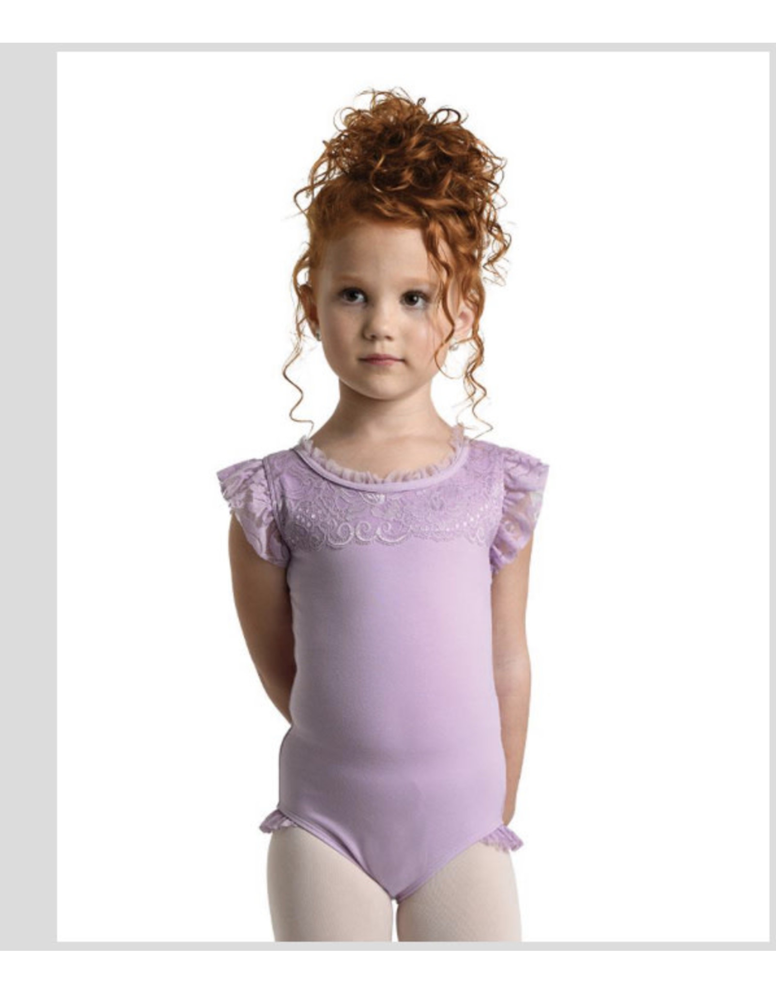 Danshuz Danznmotion Pink  scalloped Leotard