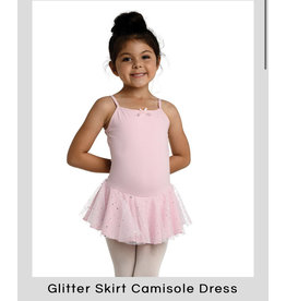 Danshuz Danznmotion Pink Camisole Ballet Dress with glitter skirt