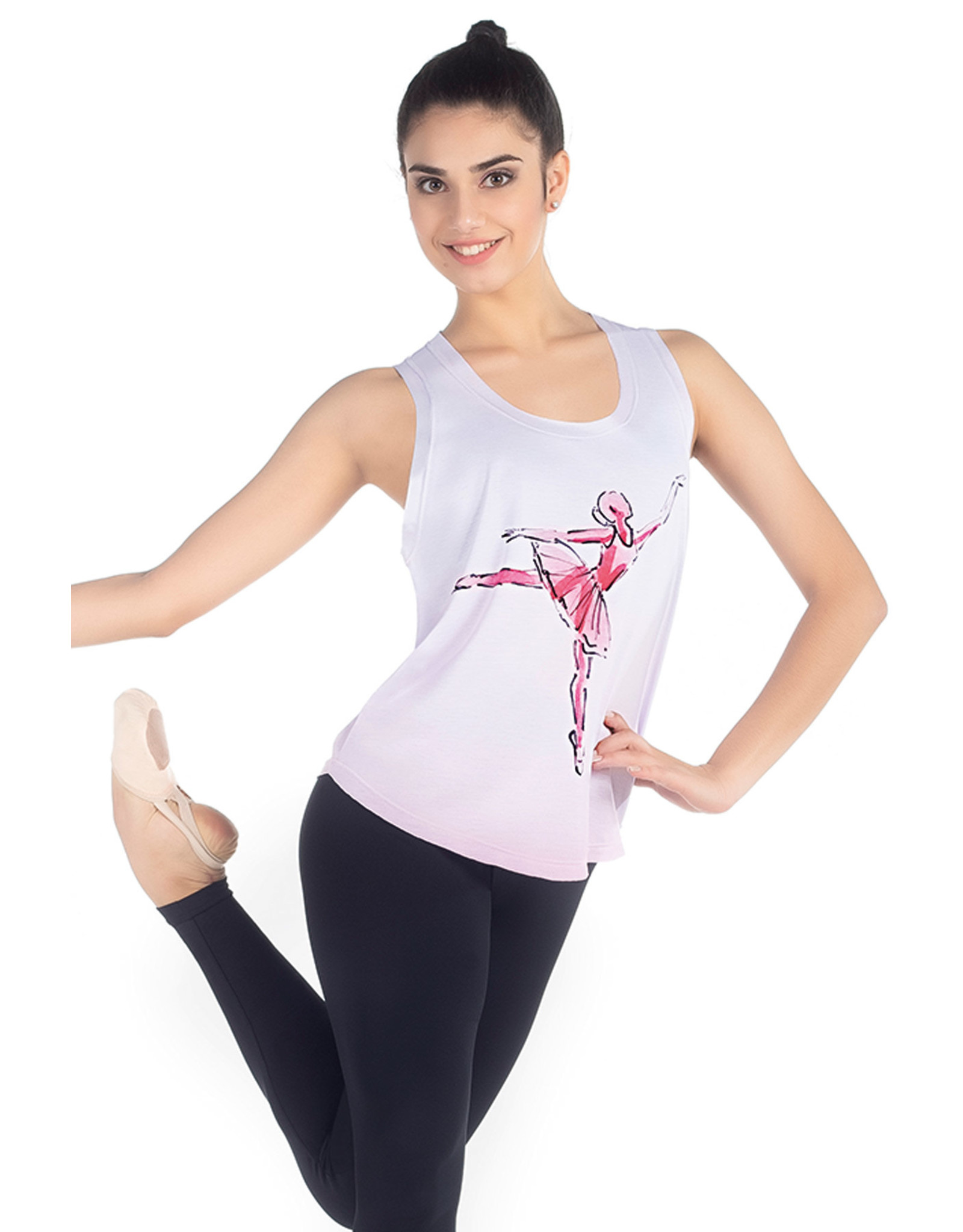 SoDanca SoDanca Adult Ballet Dancer Arebesque Tank