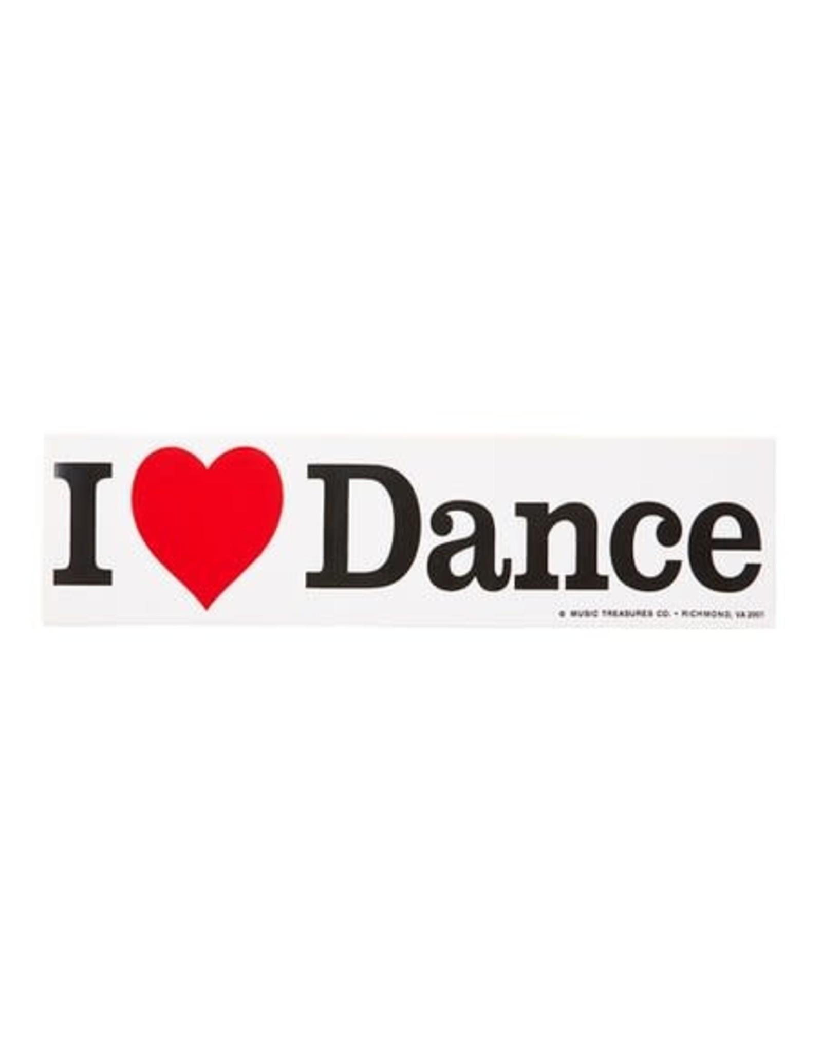 CJ Mercantile i love dance bumper sticker