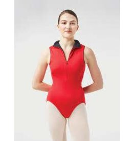 Gaynor Minden Adult Moxie Leotard, Color: Red with Blac