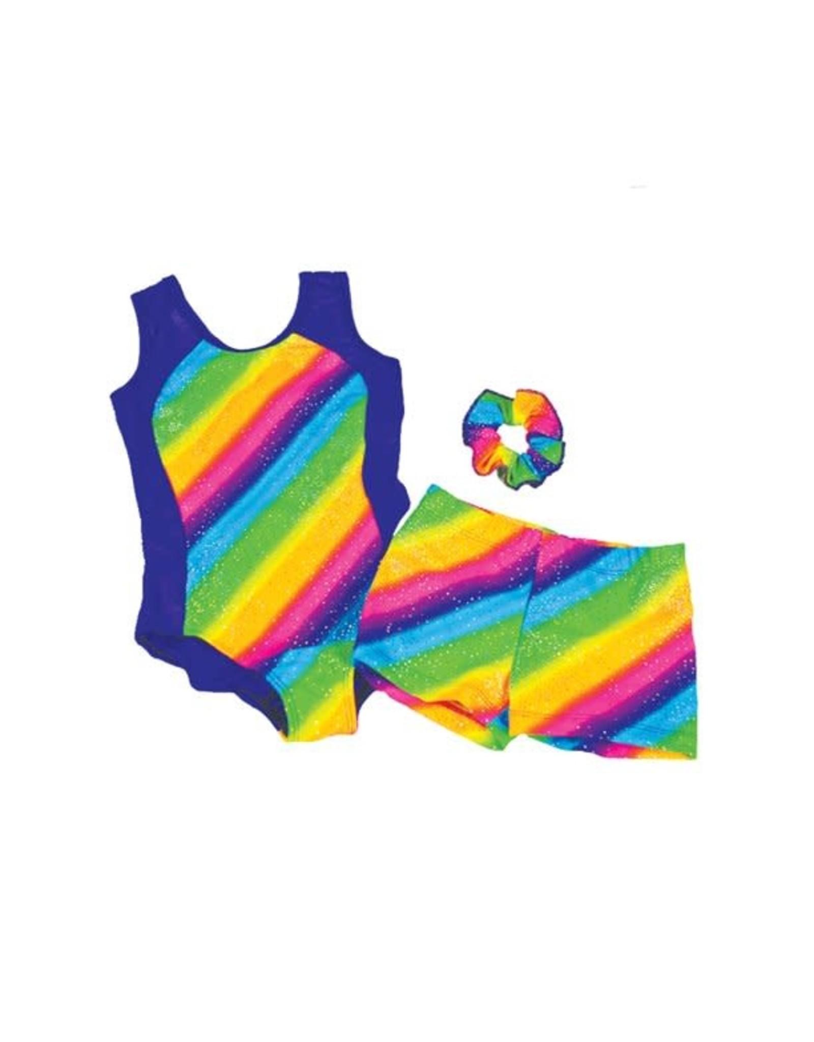 Reflectionz Reflectionz Rainbow Stripe Leotard