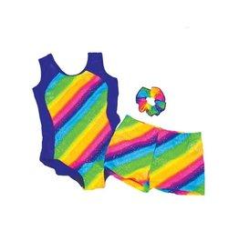 Reflectionz Reflectionz Rainbow Stripe Shorts