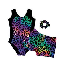 Reflectionz Reflectionz Rainbow Leopard Leotard