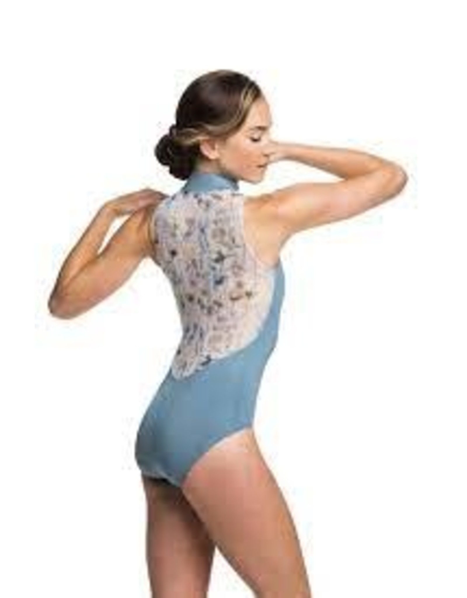 Ainsliewear Zip Front Leotard with Spring Meadow Print