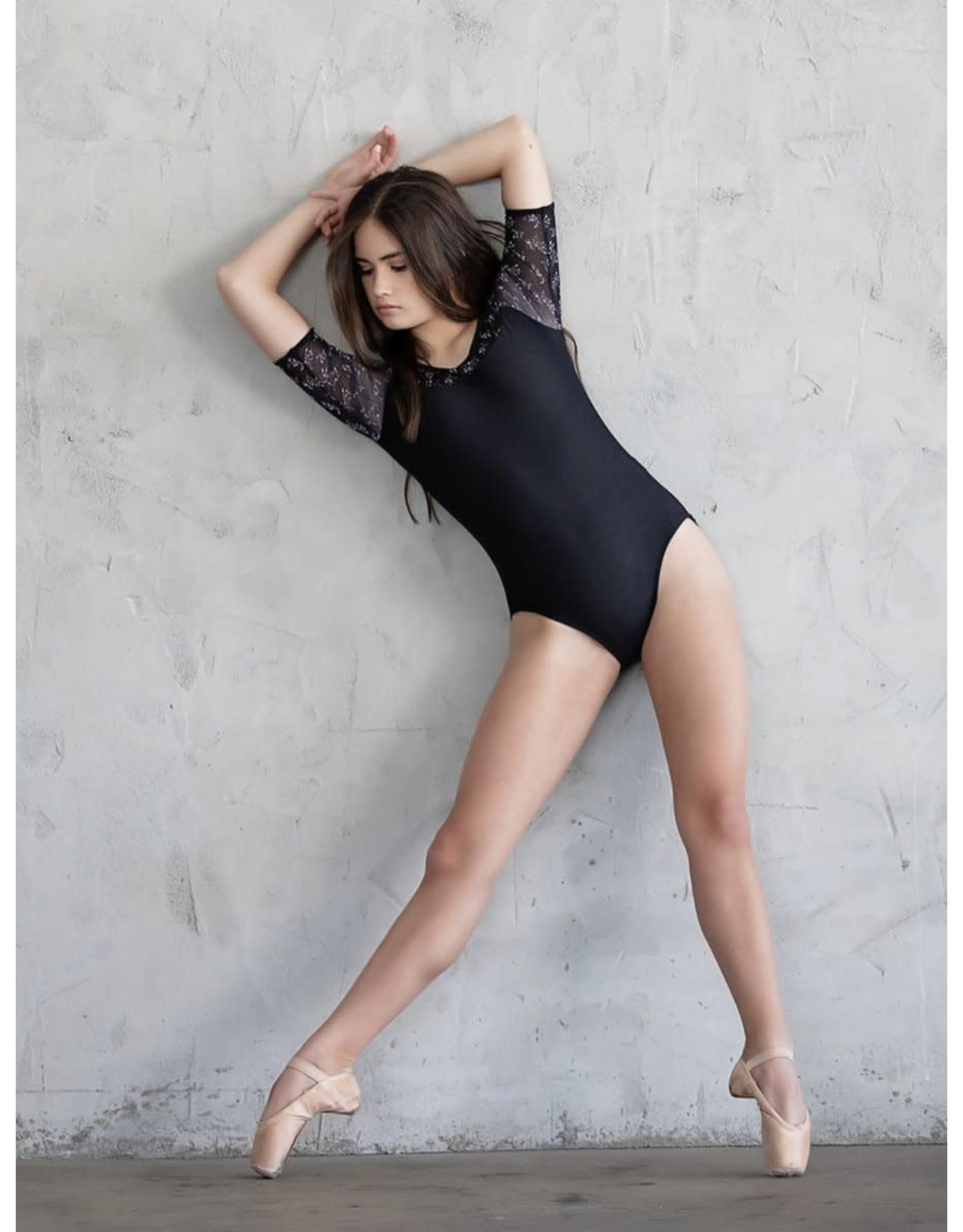 Chic Ballet THE OCTAVIA LEOTARD (CHIC115-BFL) - BLACK FLORAL