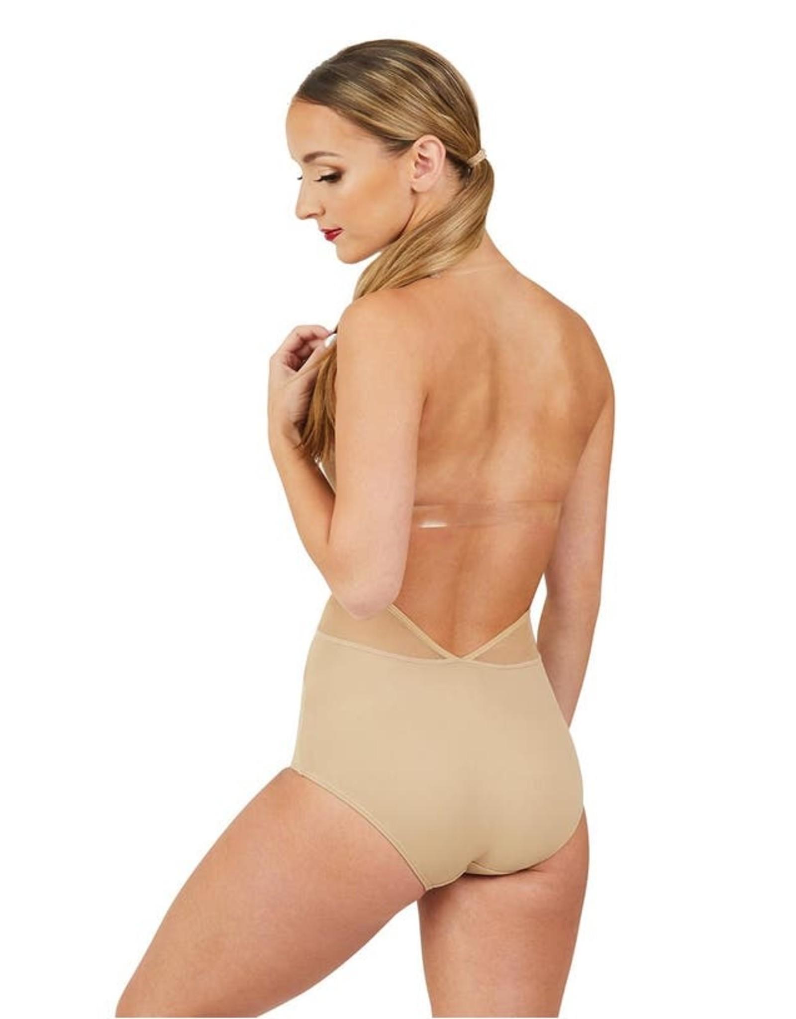 Capezio Nude plunge front deep back