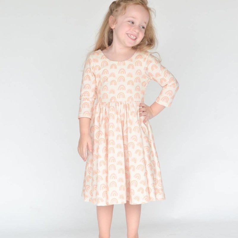 OllieJay Autumn Dress in Muted Rainbow